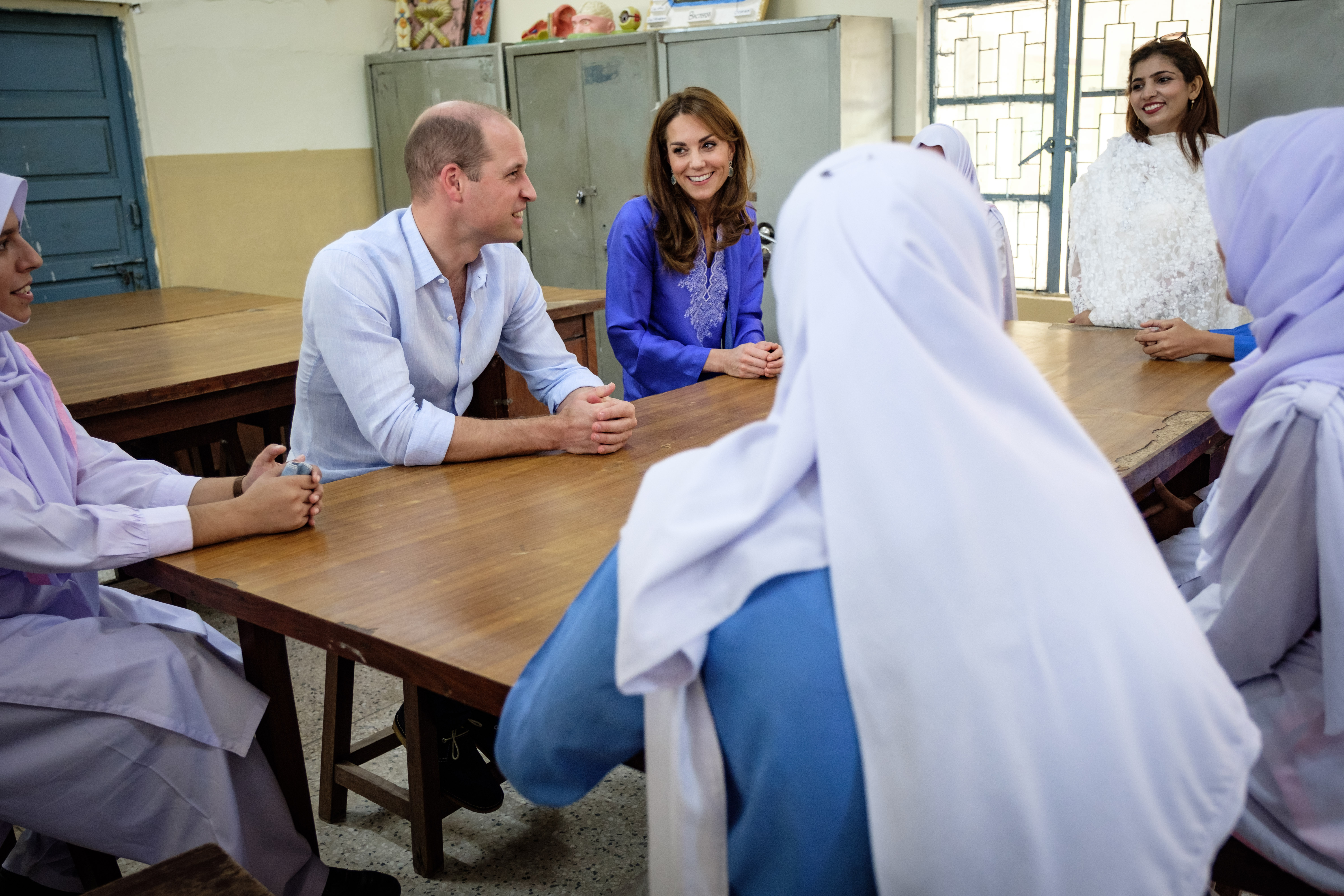 The Duke and Duchess of Cambridge visit a school in Pakistan