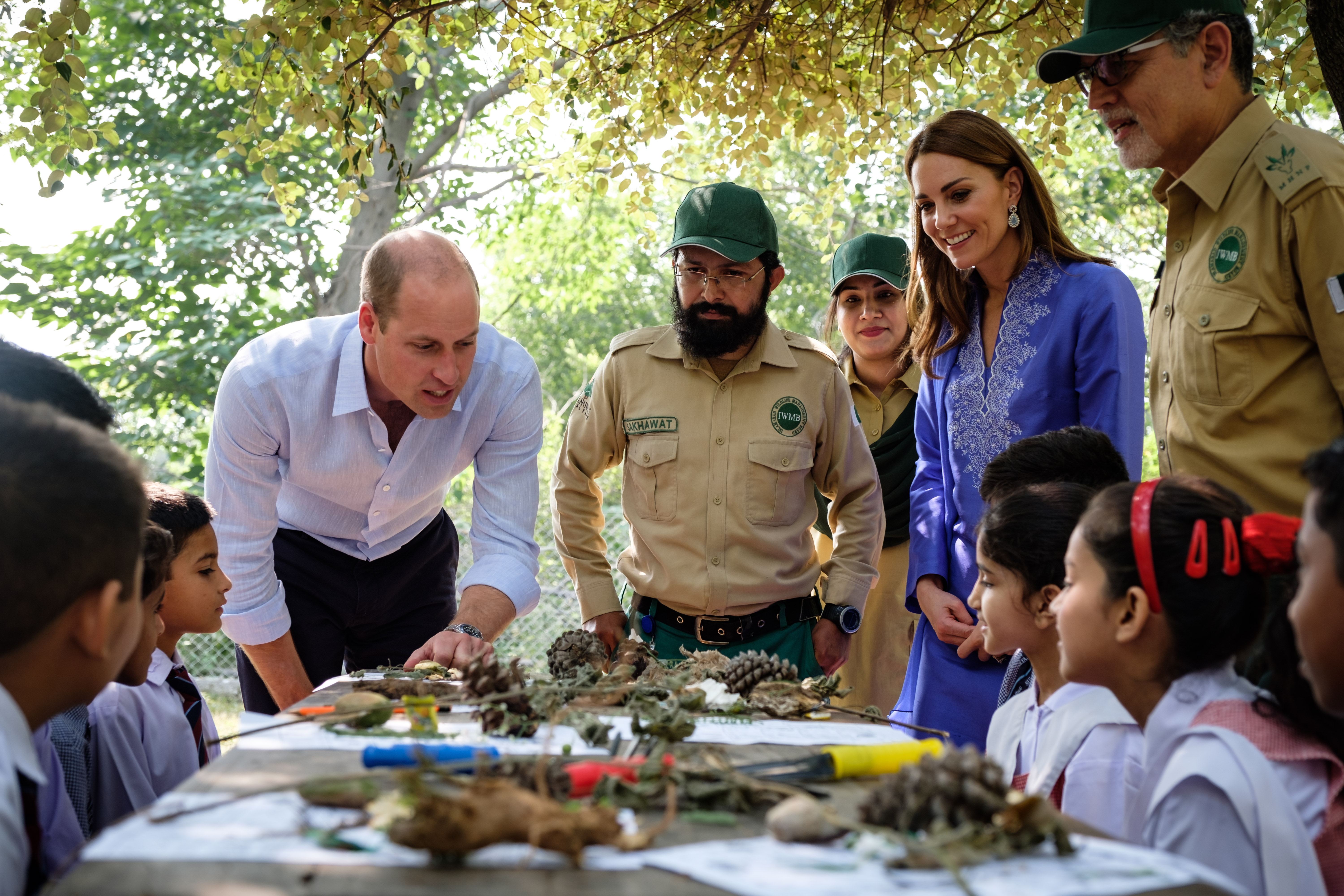 The Duke and Duchess of Cambridge in the Margalla Hills in Pakistan