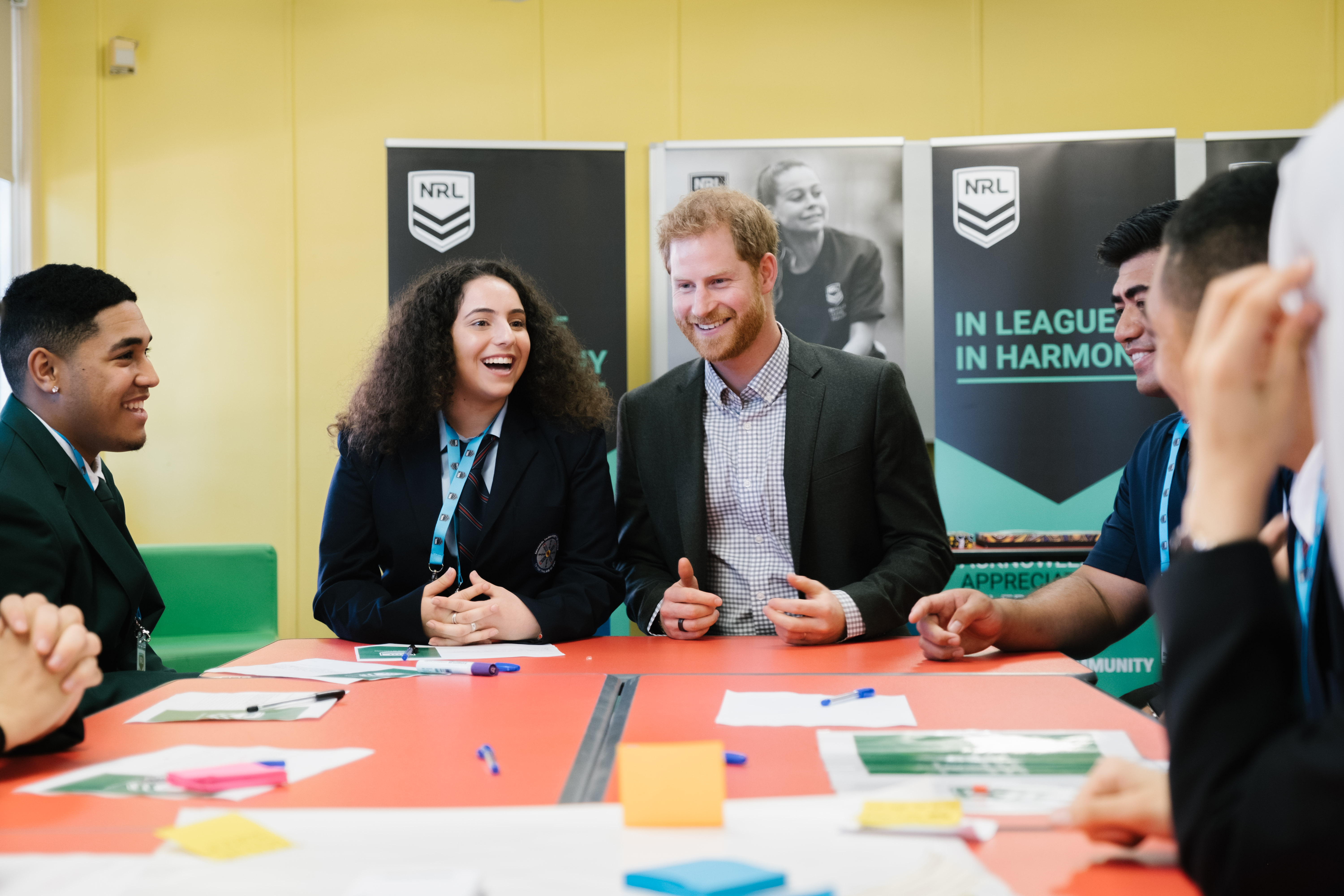 Prince Harry at Macarthur Girls High School