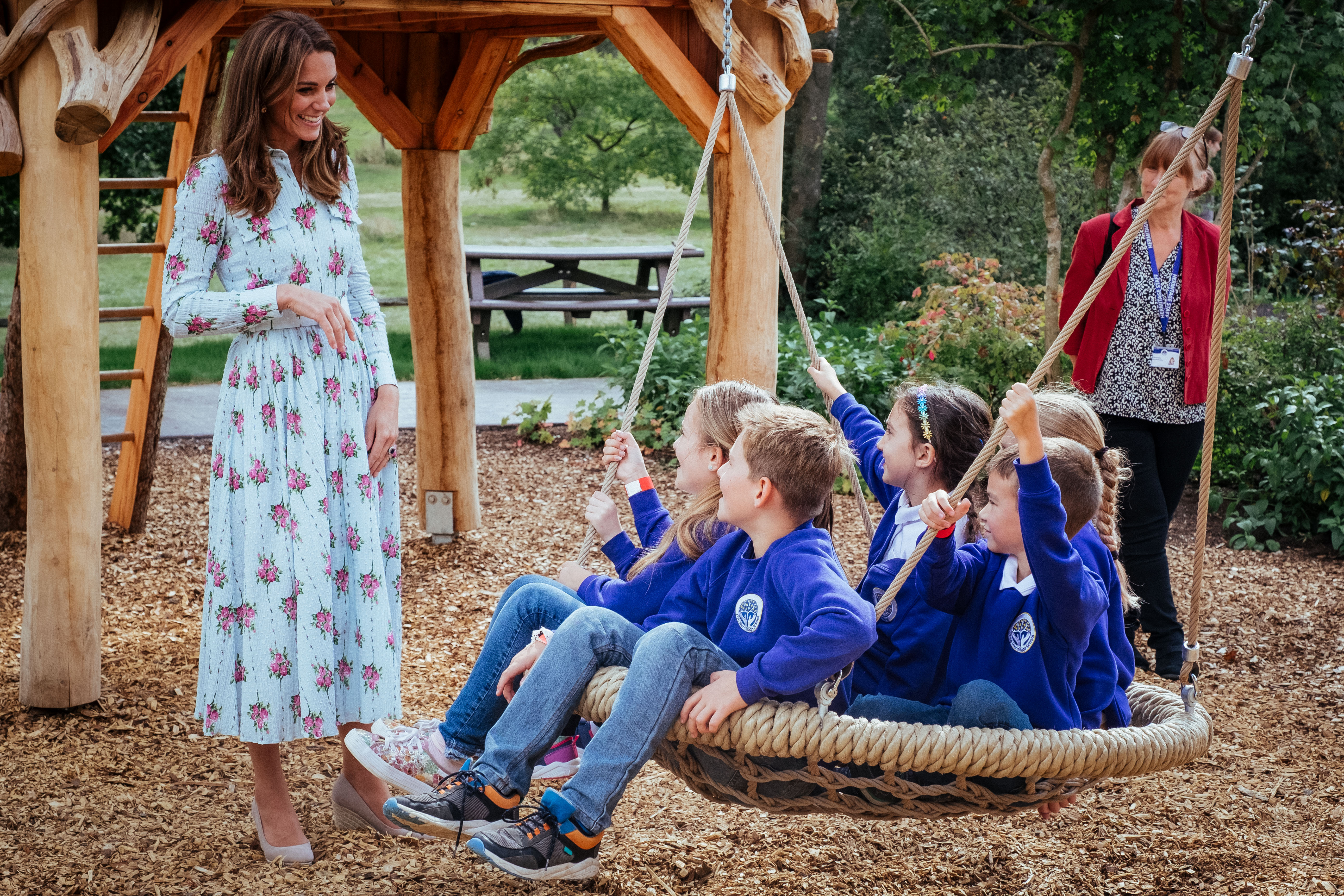 The Duchess of Cambridge at the RHS Wisley Back to Nature Garden.