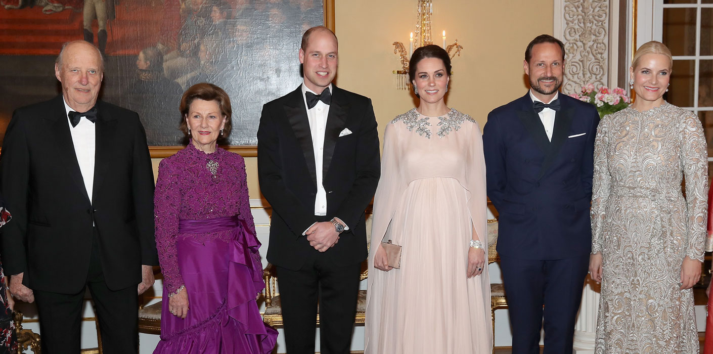 Duke and Duchess of Cambridge with The Norwegian Royal Family