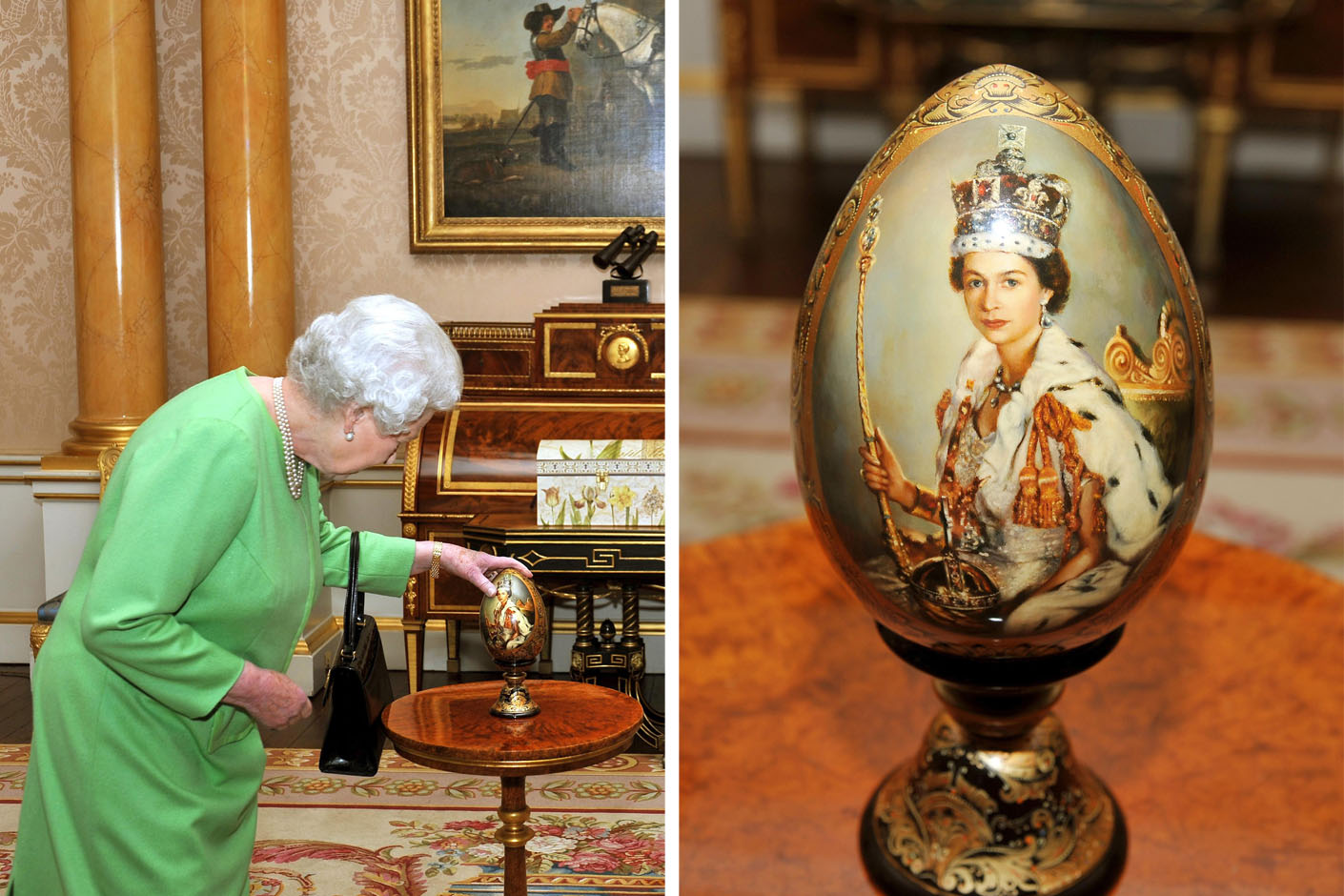 Wooden Egg given as a gift to The Queen in 2010