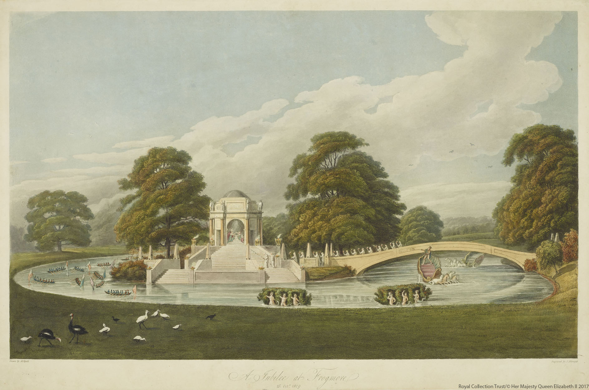 Frogmore House in 1809