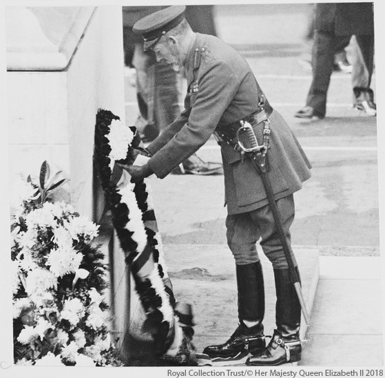 George V at the Cenotaph