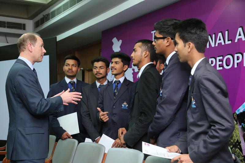 The Earl of Wessex at The Duke of Edinburgh Awards in New Delhi