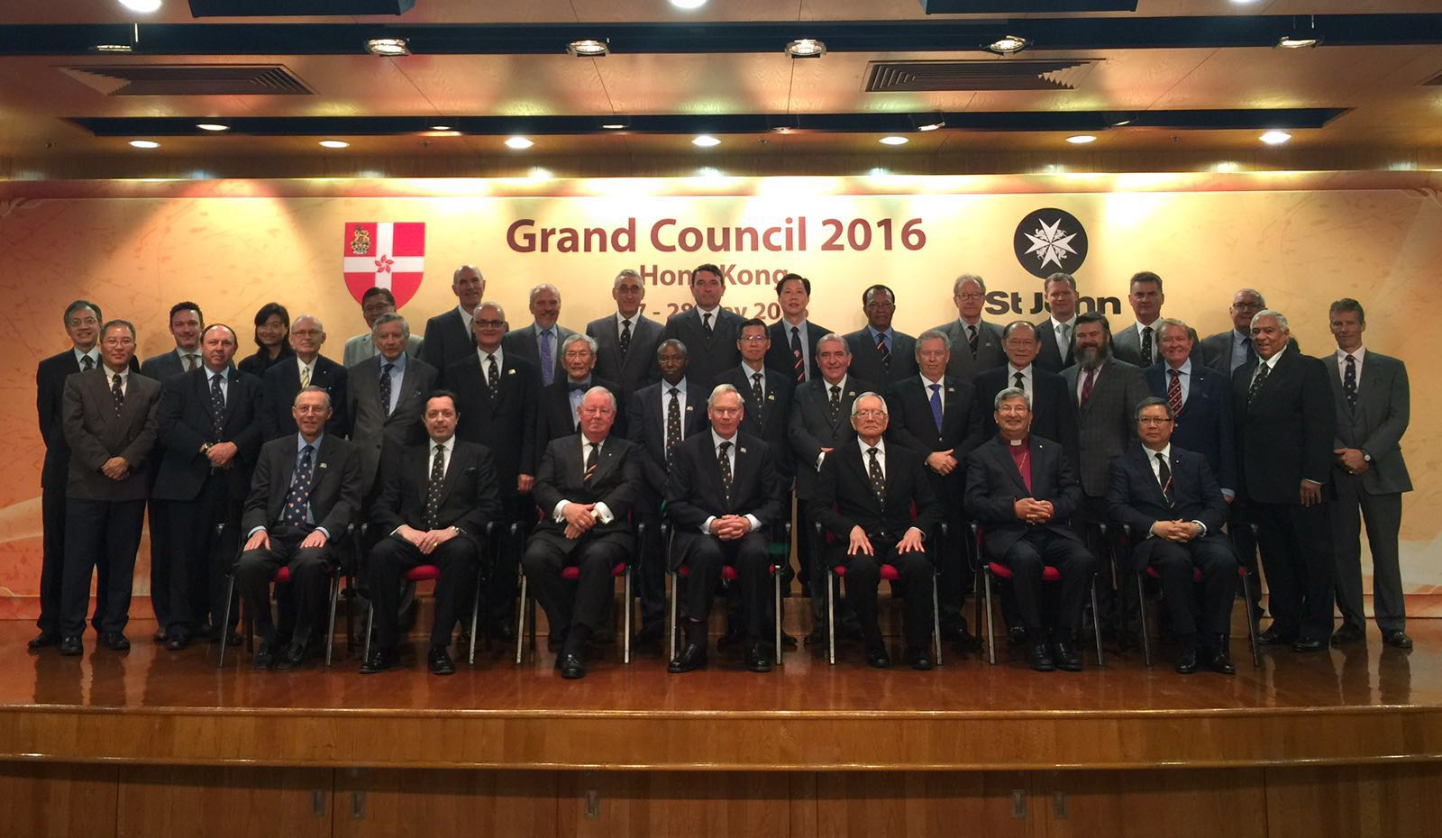 Attendees of the Grand Council meeting