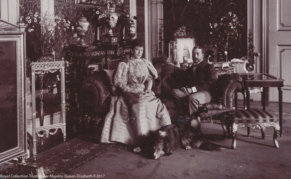 George V and Queen Mary with collie Heather