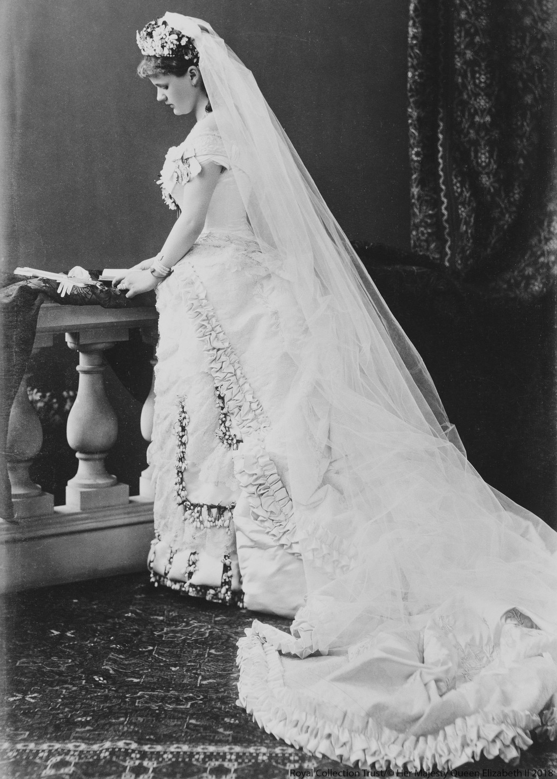 Princess Helena of Waldeck and Pyrmont's Wedding Dress