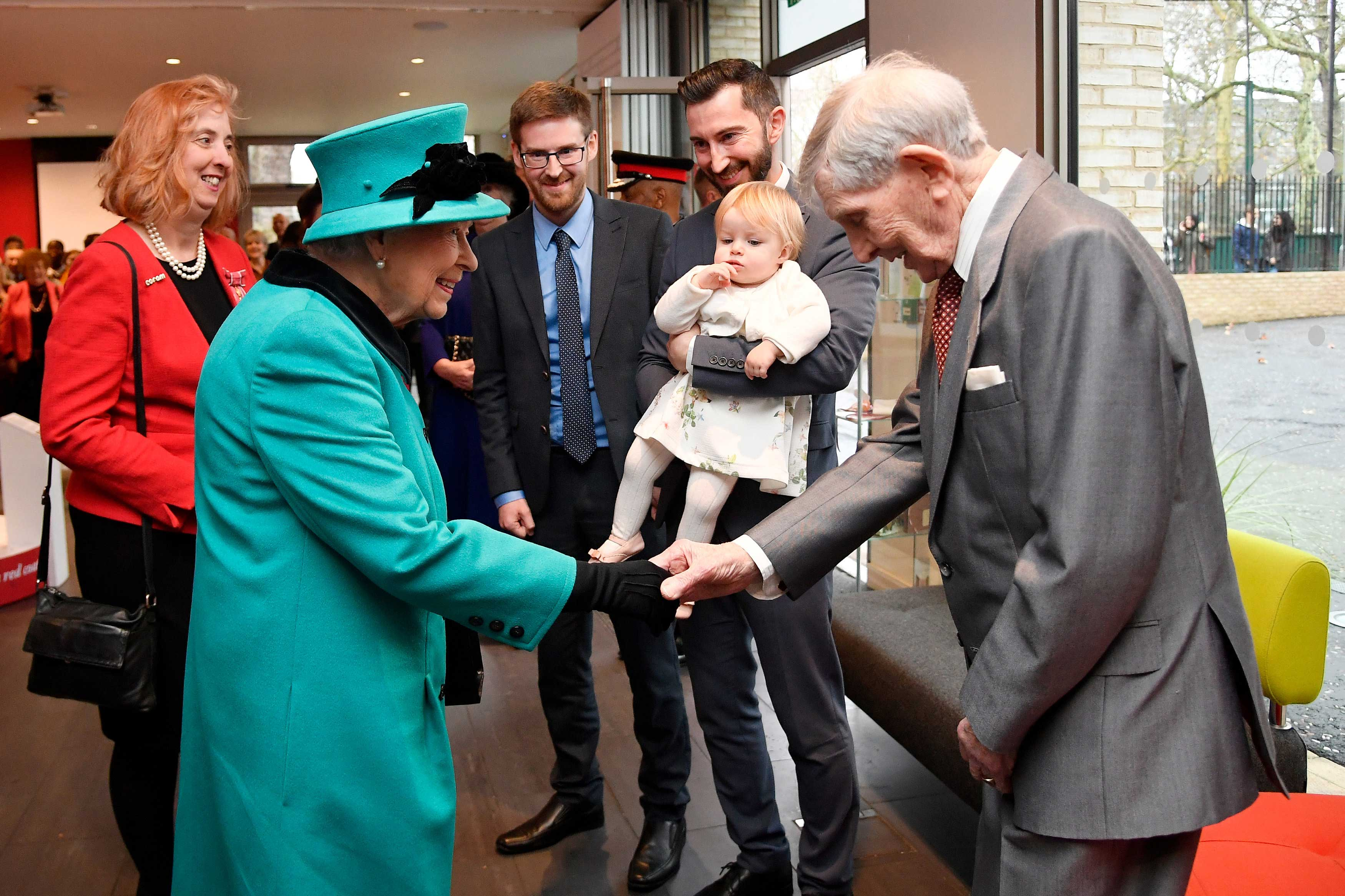 Her Majesty meets Edward and Mia at the opening of The Queen Elizabeth II Centre
