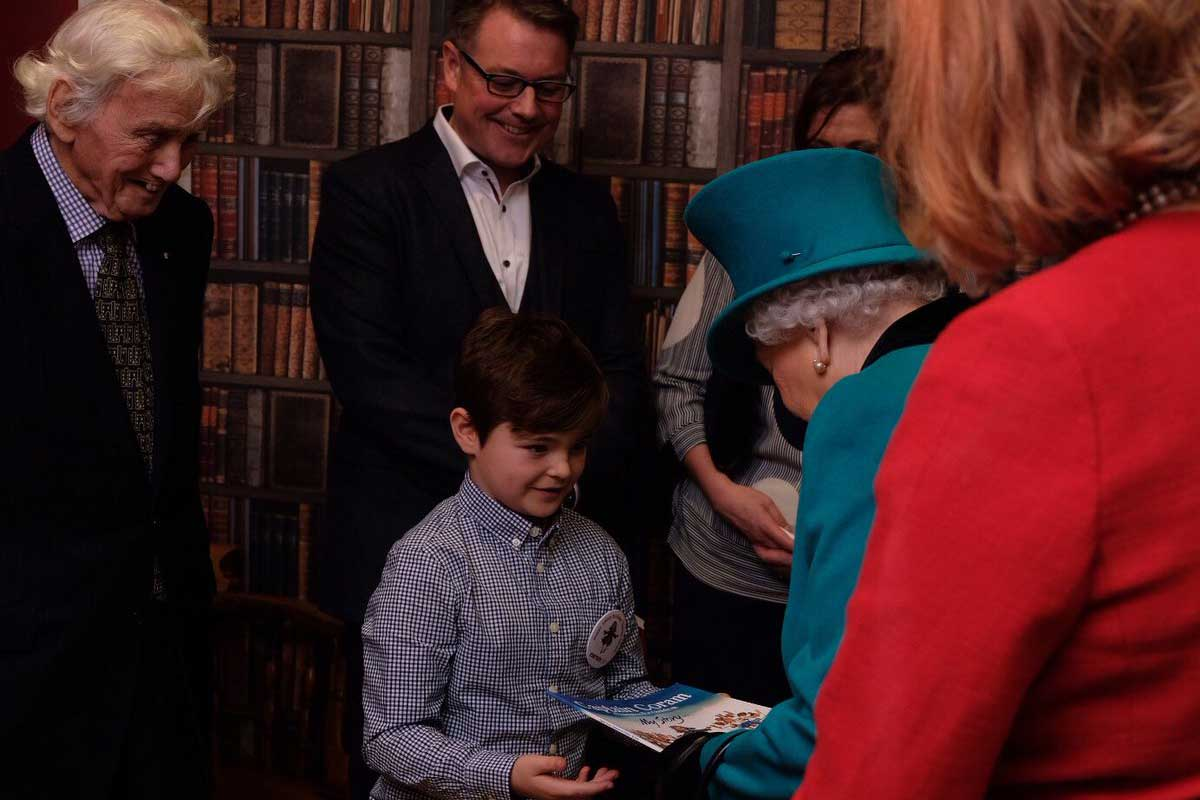 Her Majesty meets Lewis at the opening of The Queen Elizabeth II Centre