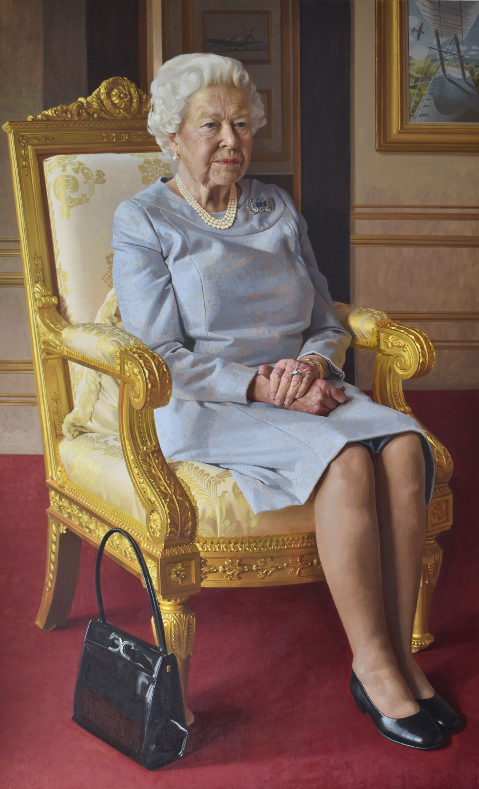 portrait of The Queen by Benjamin Sullivan