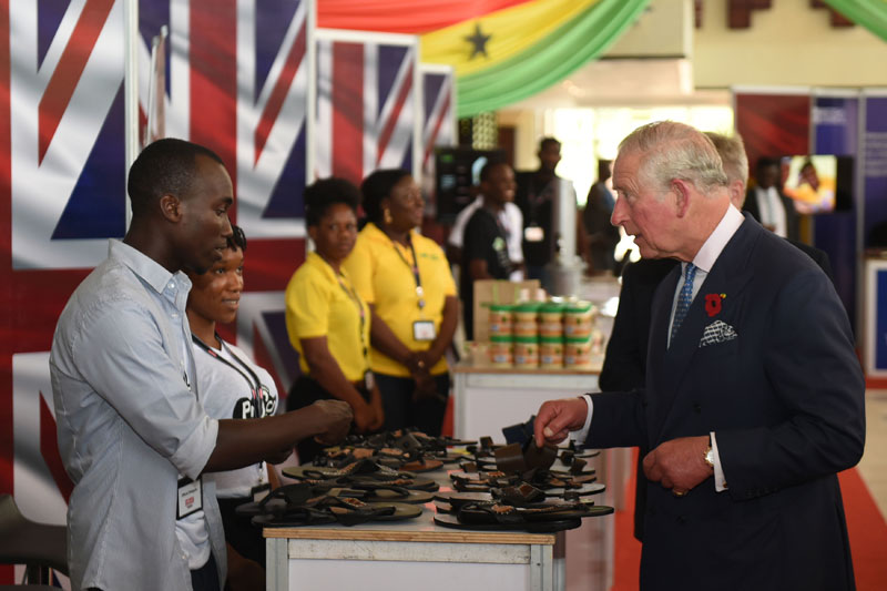 The Prince of Wales meets entrepreneurs in Ghana