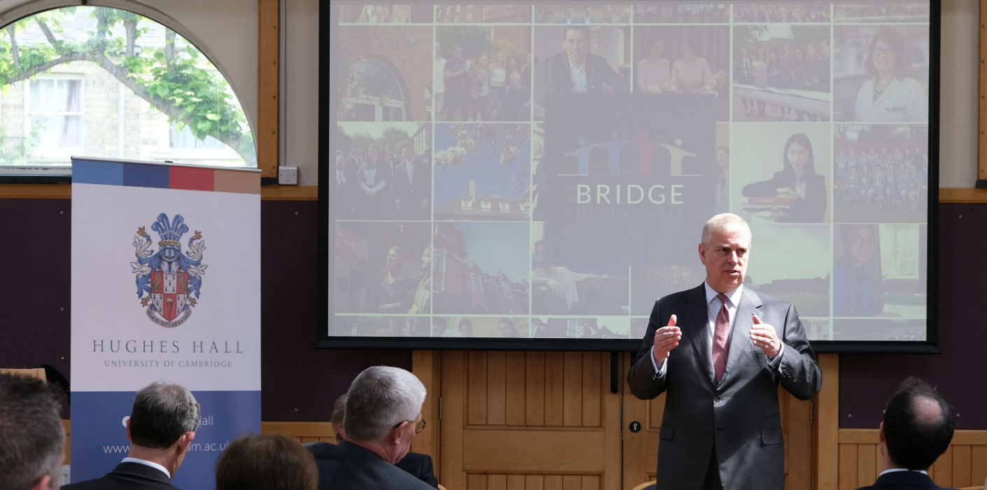 The Duke of York visits Hughs Hall