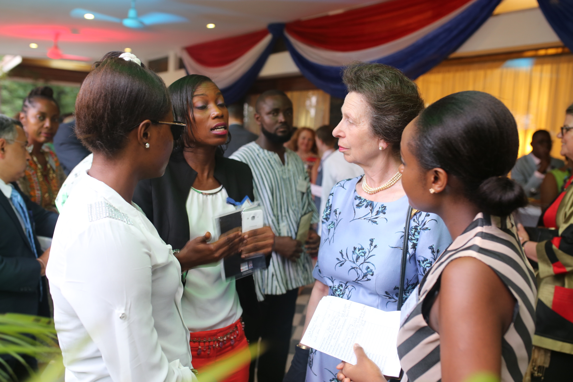 The Princess Royal attends a Reception to celebrate 60 years of Ghanaian Independence