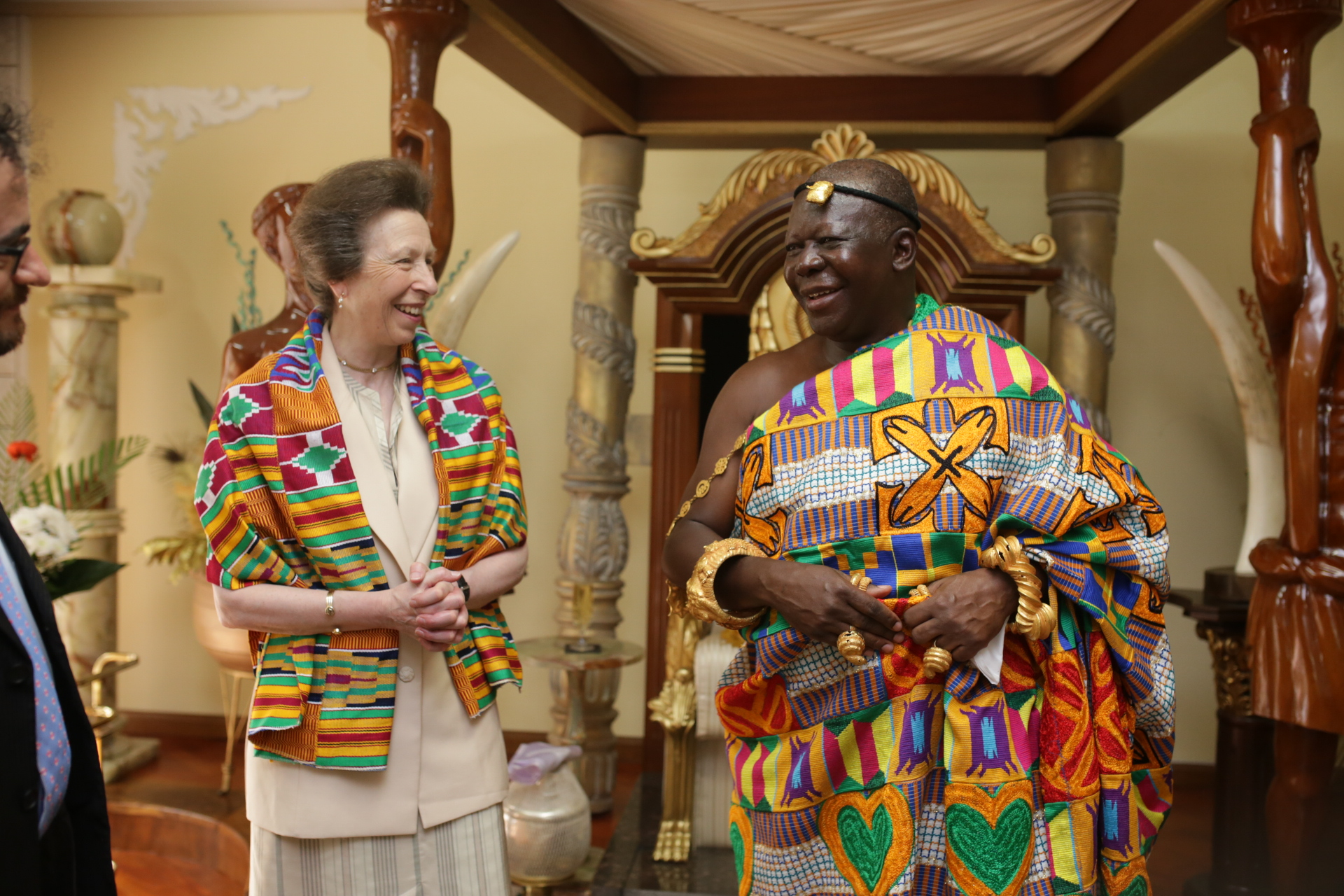 The Princess Royal meets His Majesty Otumfuo Osei Tutu II