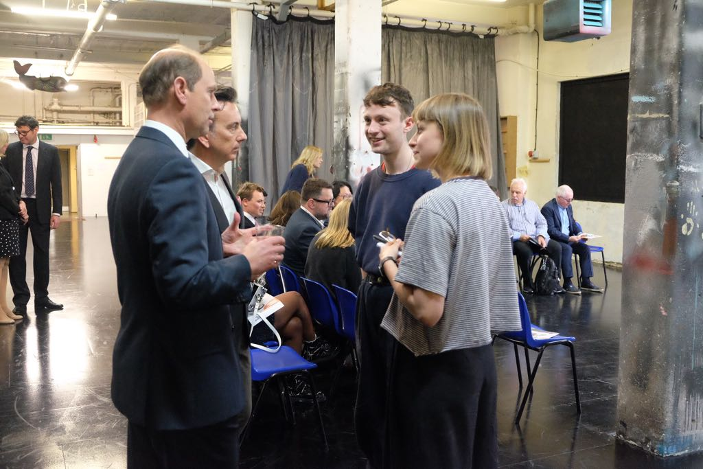 The Earl of Wessex meets members of the National Youth Theatre