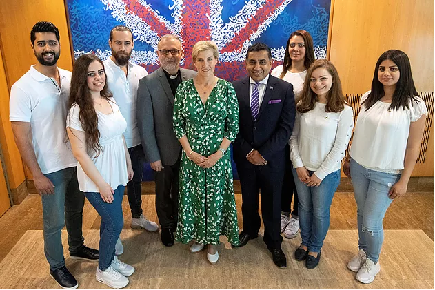 HRH The Countess of Wessex GCVO meets AMBASSADORS FOR PEACE in Lebanon