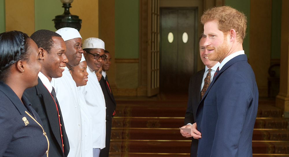 The Caribbean Scholars meet Prince Harry