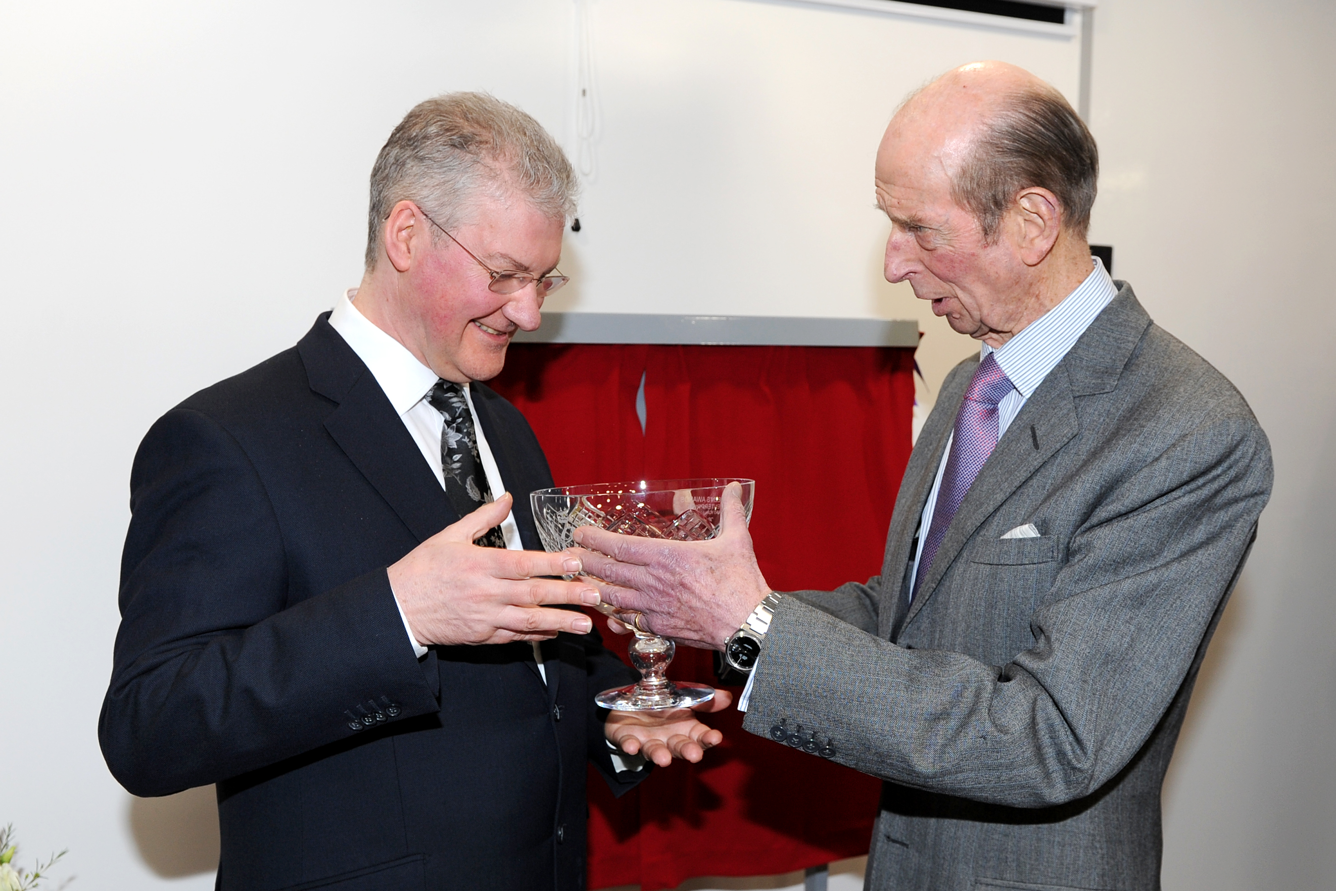 The Duke presents the Queen's Award