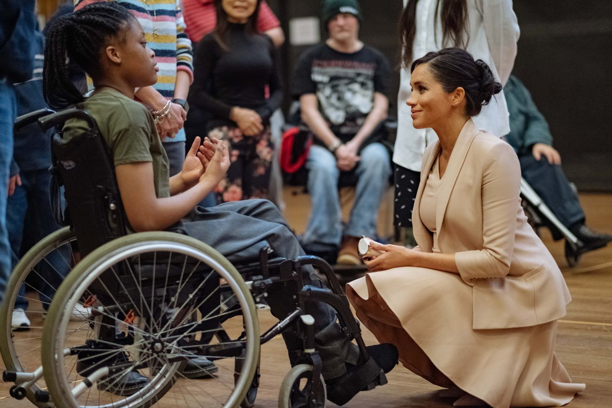 The Duchess of Sussex visits the National Theatre