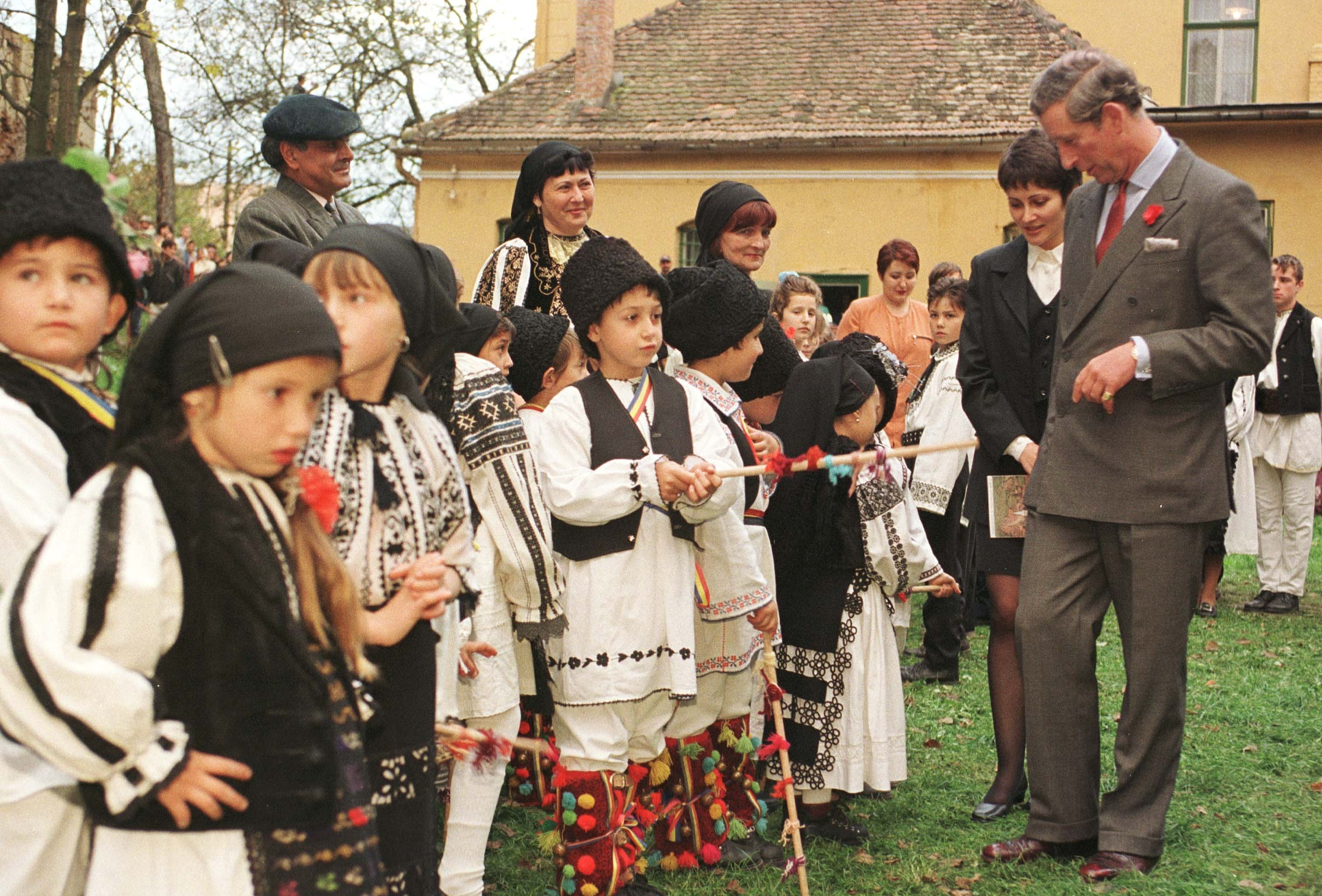 The Prince of Wales visits Romania in 1998
