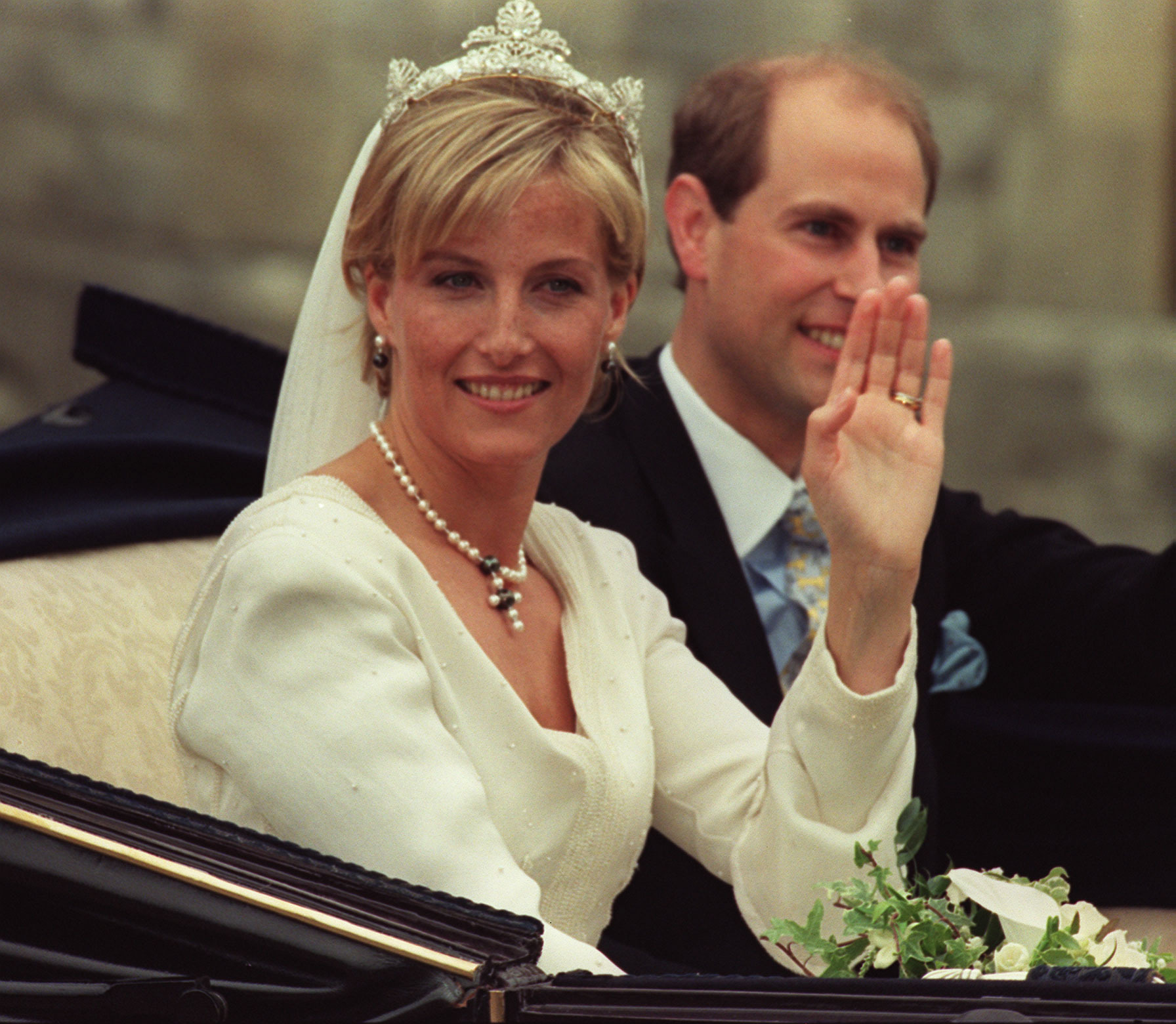 The marriage of The Earl and Countess of Wessex. © Press Association
