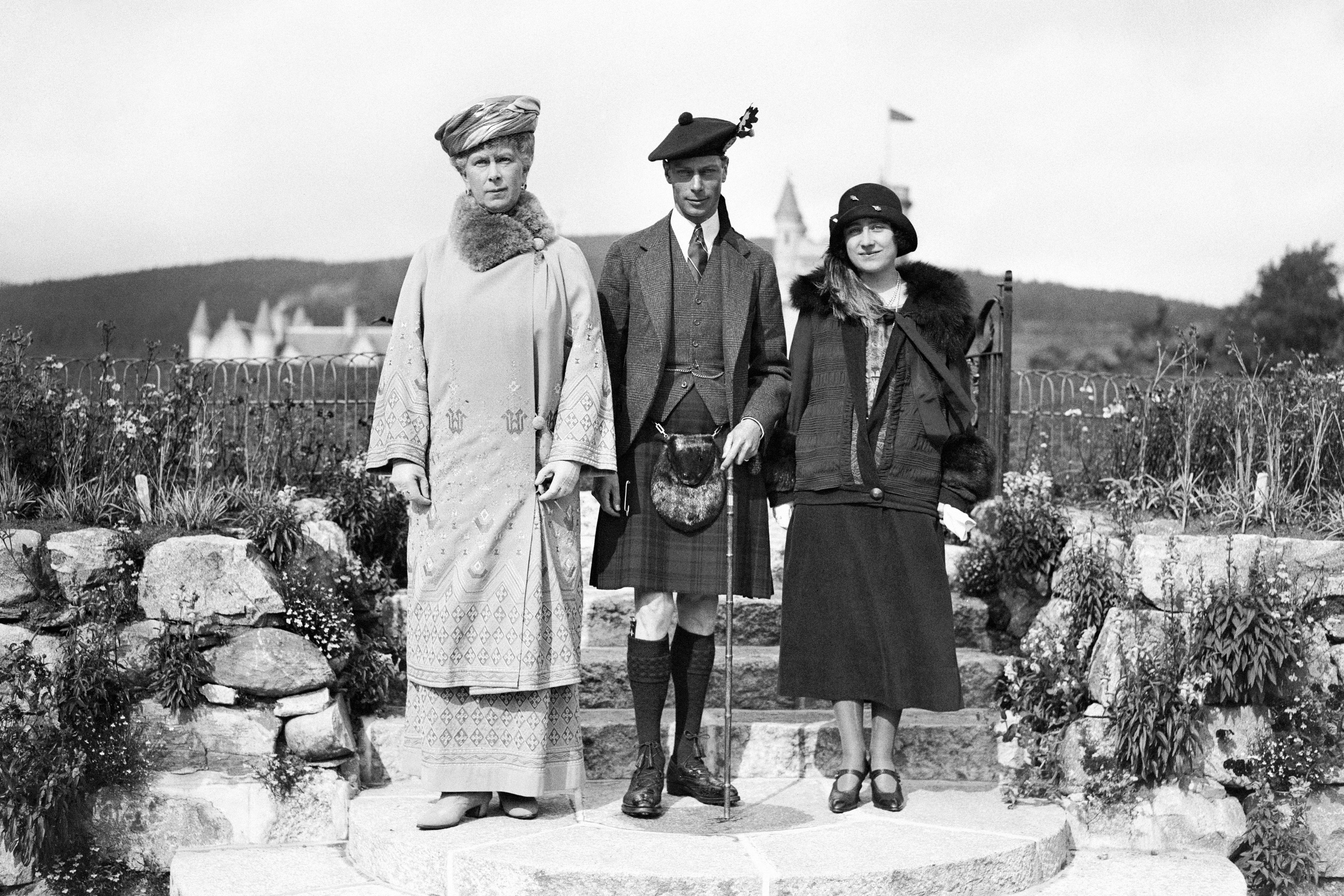 Queen Mary, George VI and Queen Elizabeth The Queen Mother at Balmoral