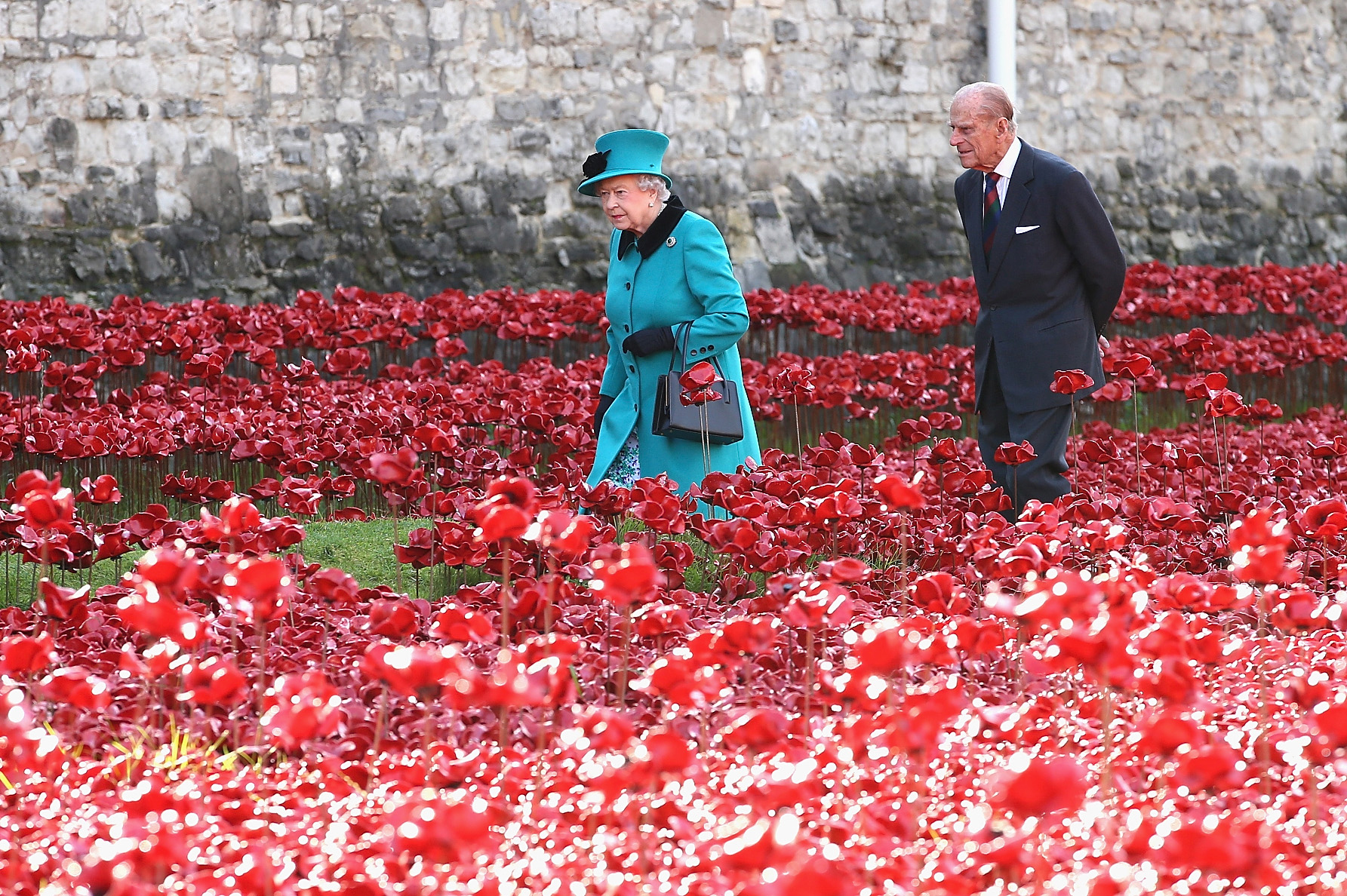The Queen and The Duke of Edinburgh at the Tower of London