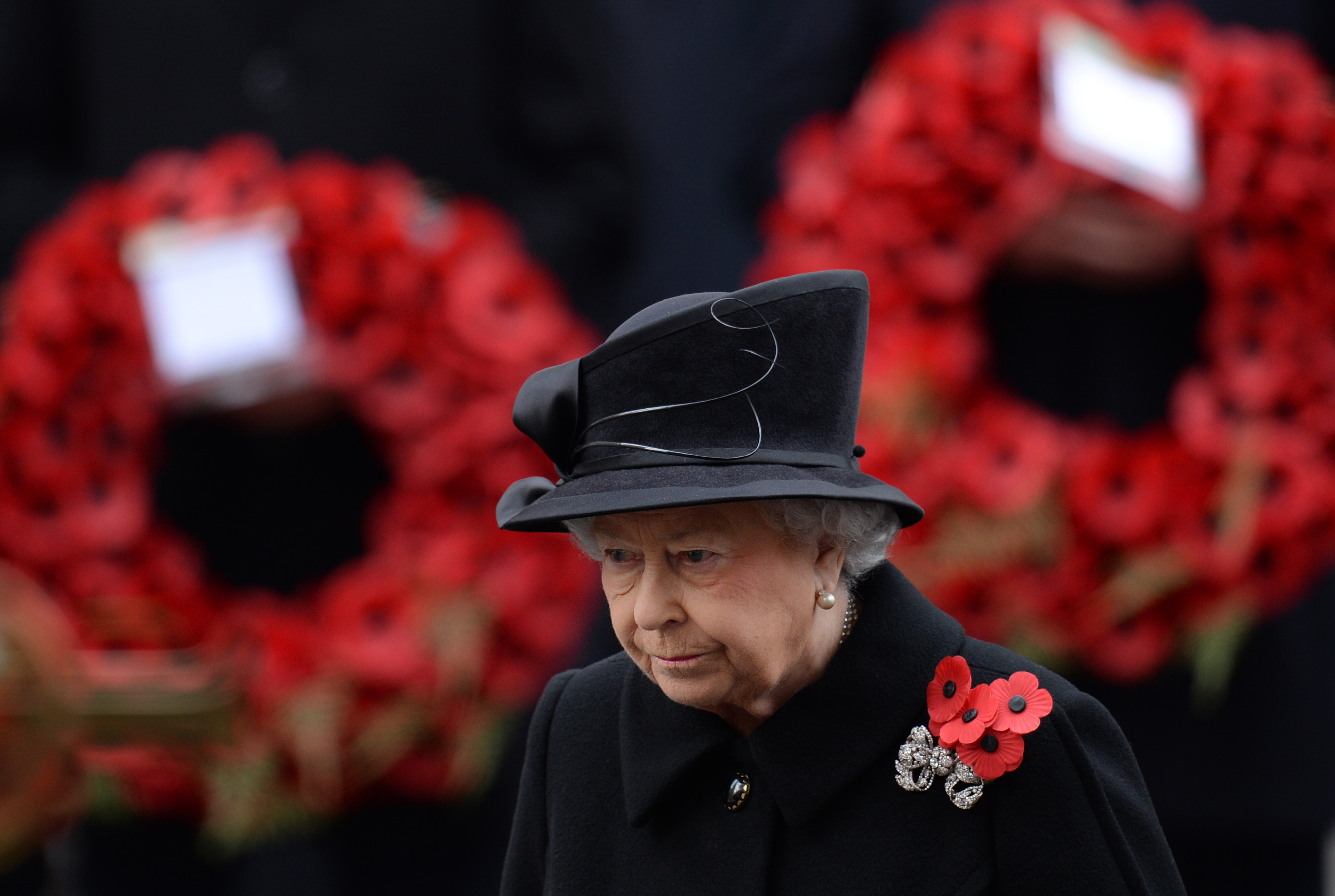The Queen at the Cenotaph in 2014