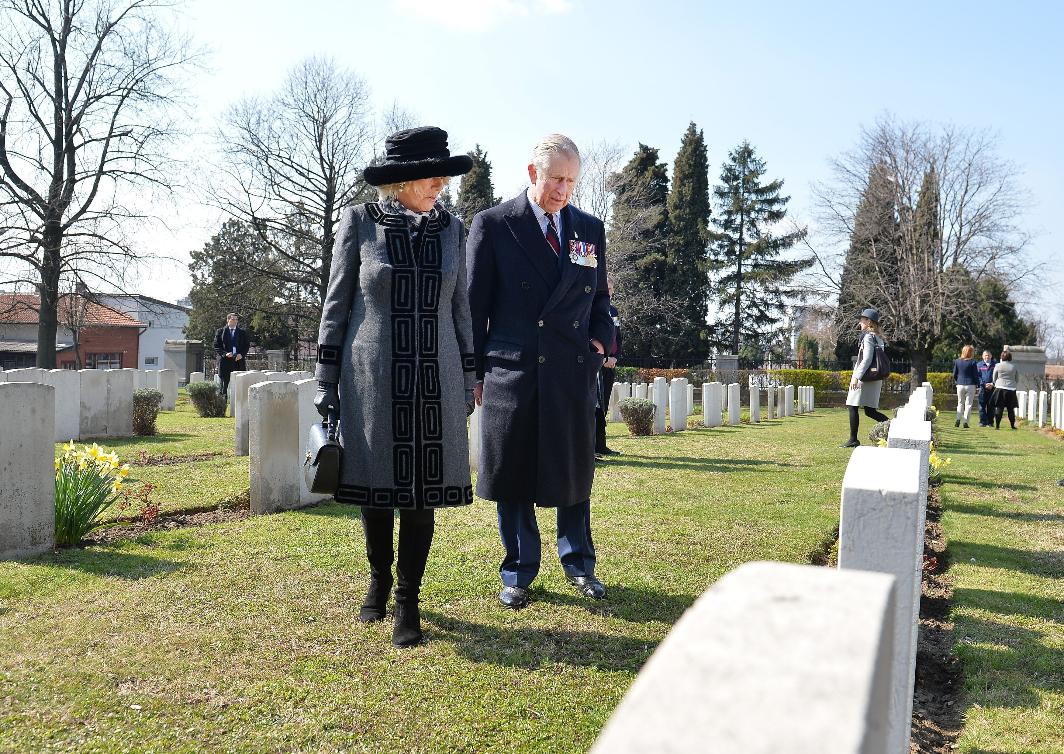 The Prince of Wales and The Duchess of Cornwall visit Commonwealth War Graves in Belgrade