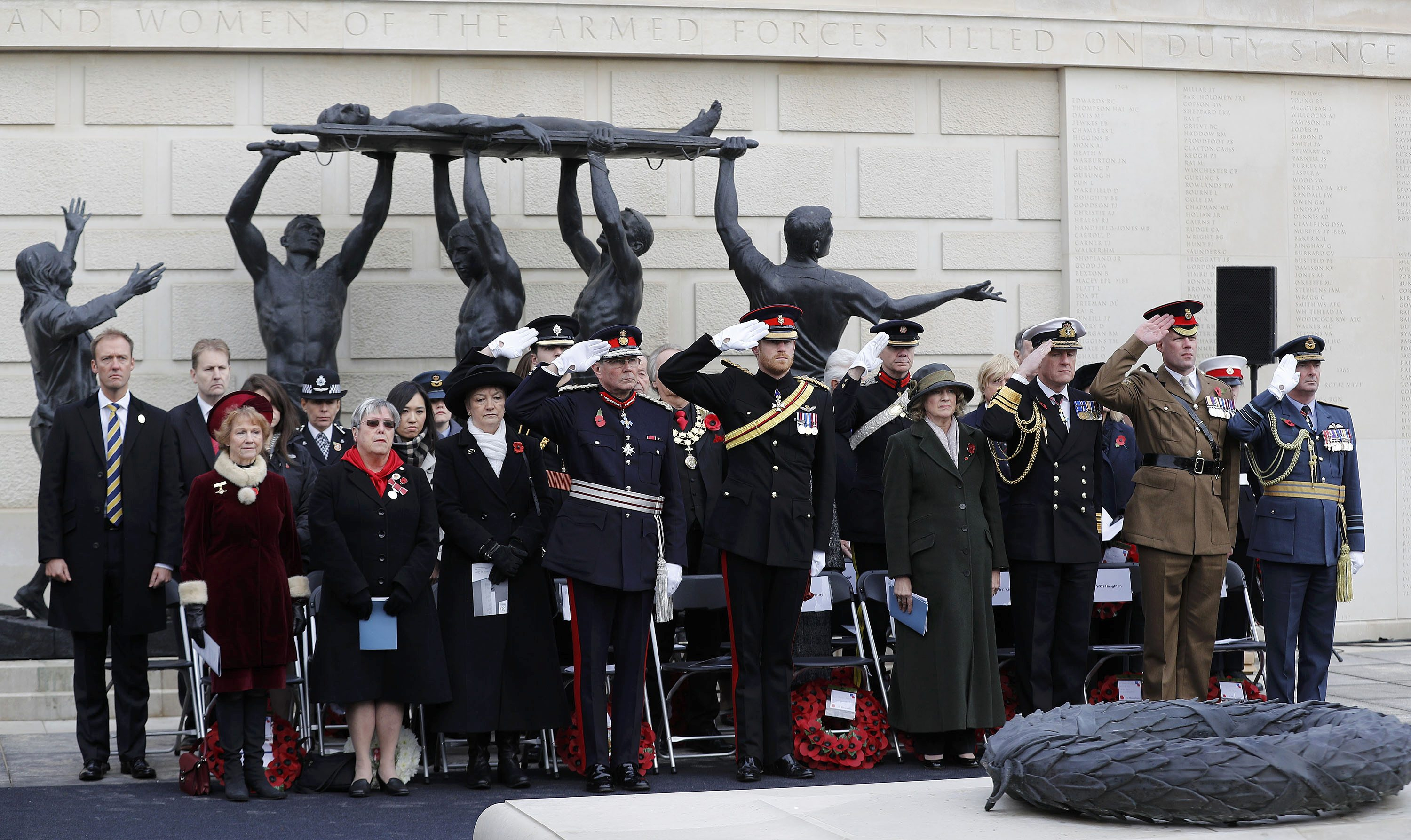 The Duke of Sussex at the National Memorial Arboretum