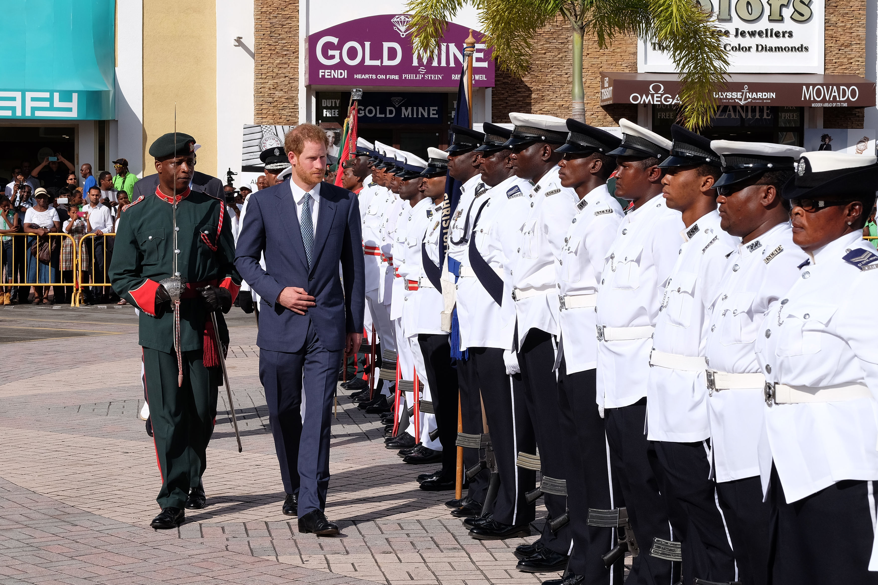 Prince Harry arrives in St Kitts and Nevis