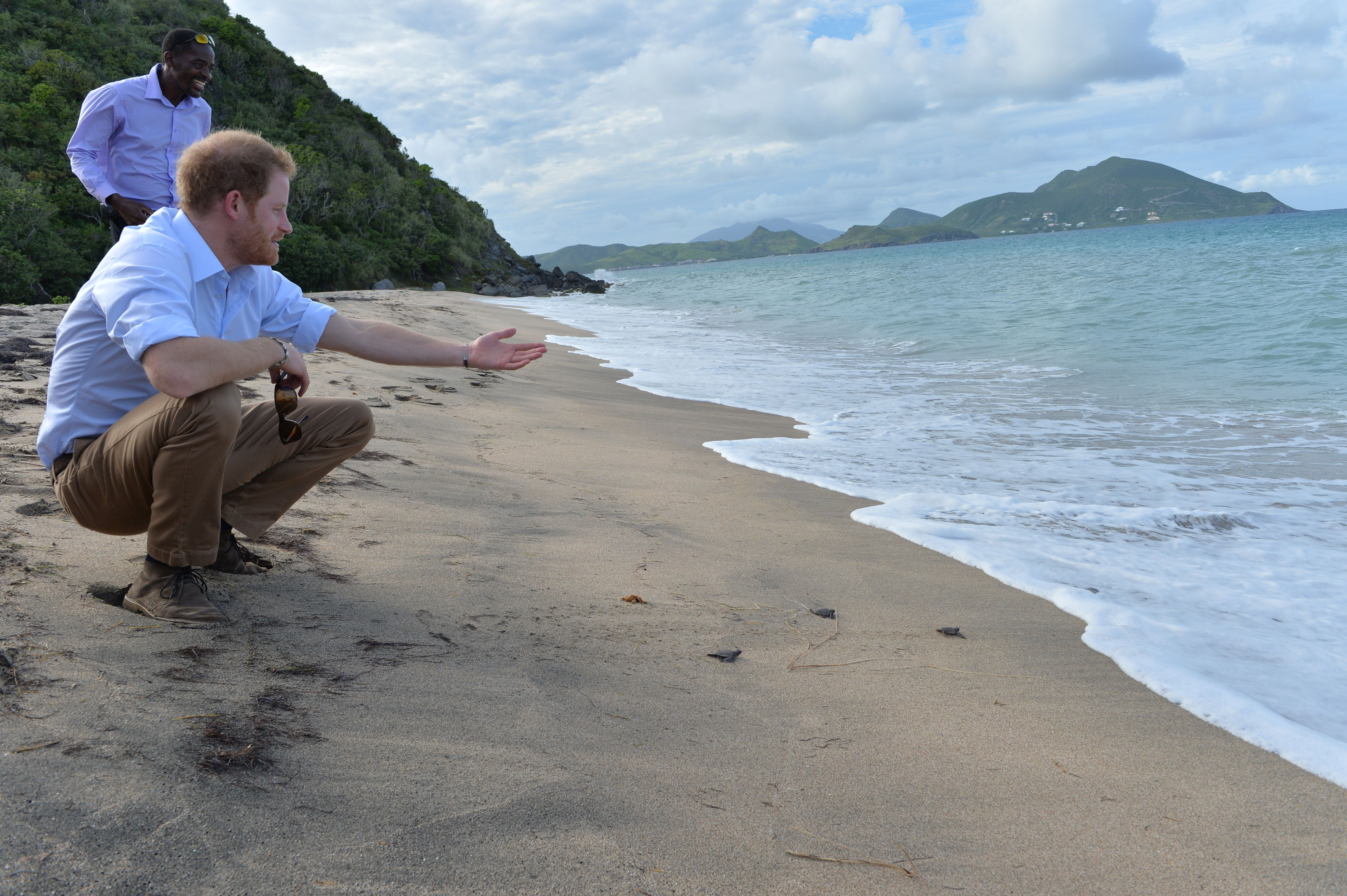Prince Harry in Nevis
