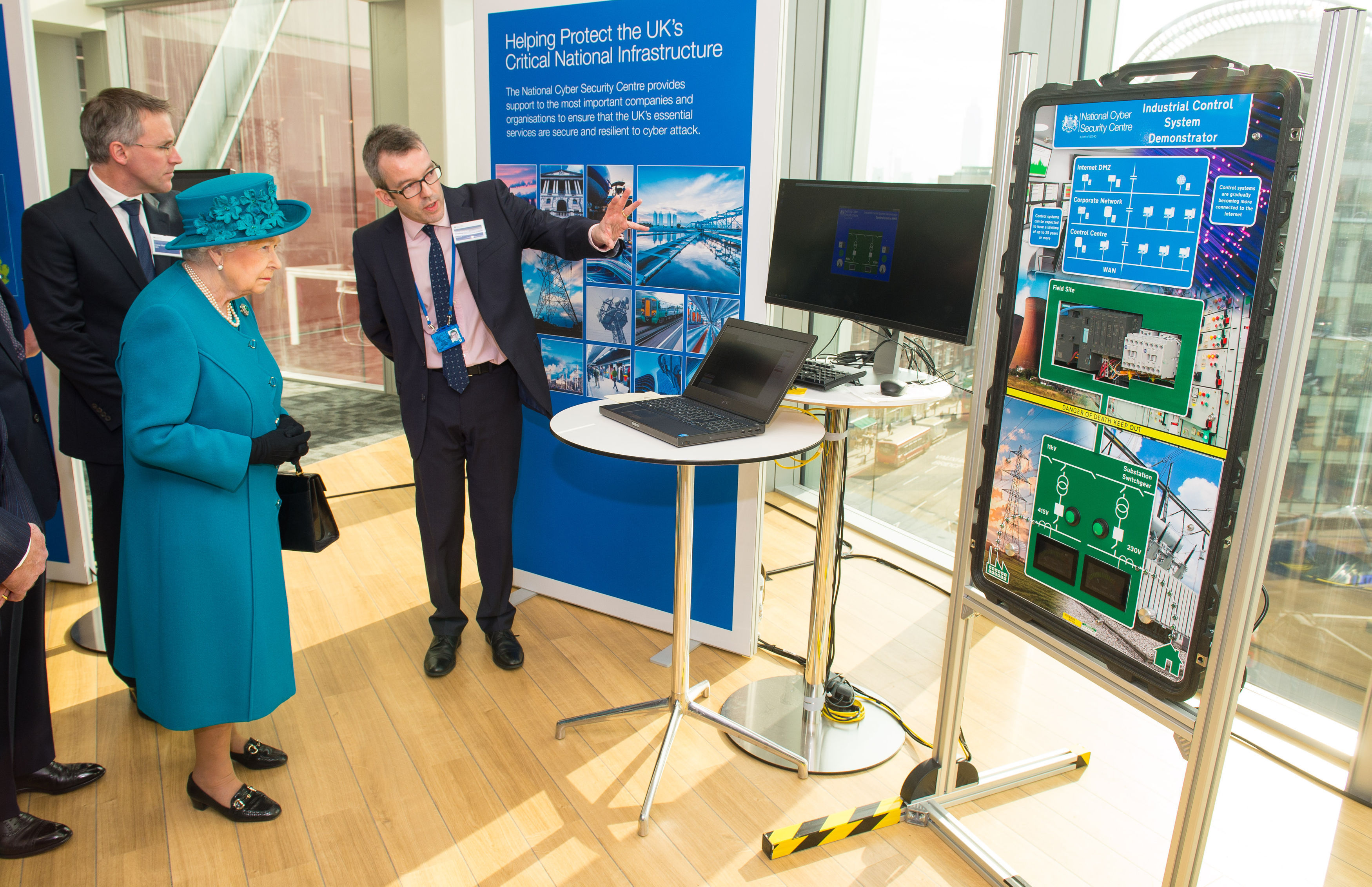 The Queen and The Duke visit the National Cyber Security