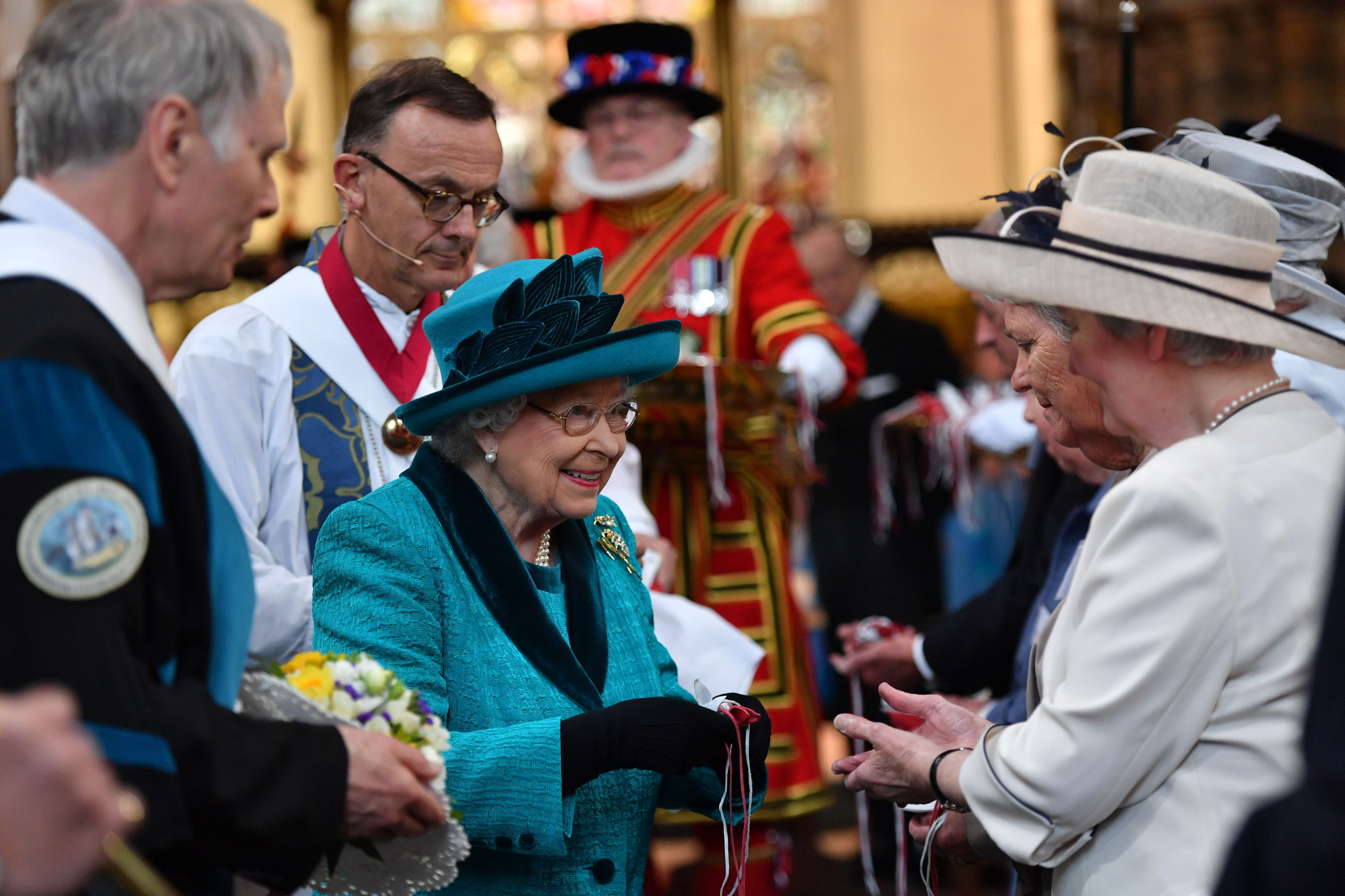 The Queen distributes Maundy Money at Leicester Cathedral