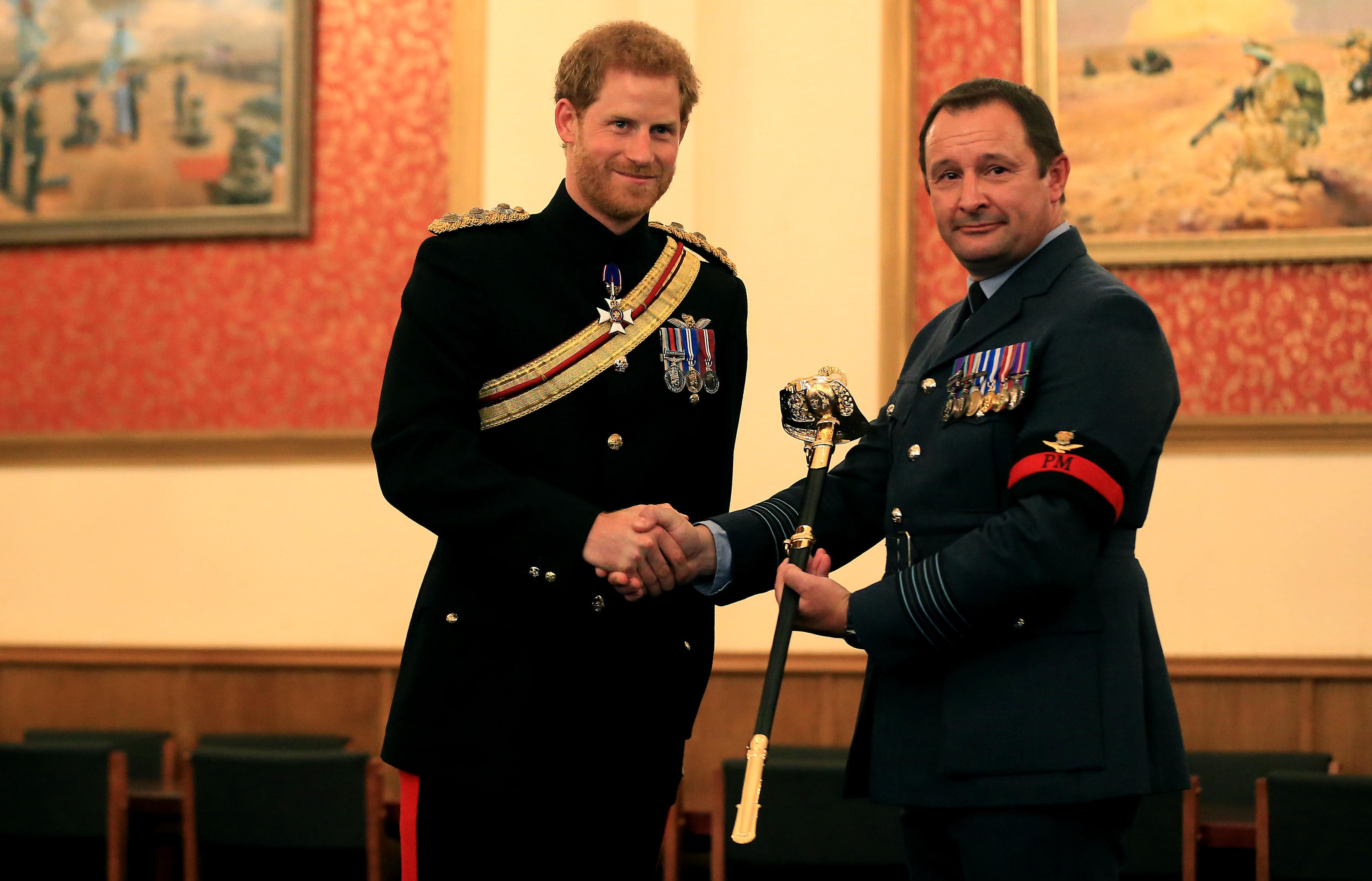 Prince Harry presents The Firmin Sword of Peace to the RAF Police