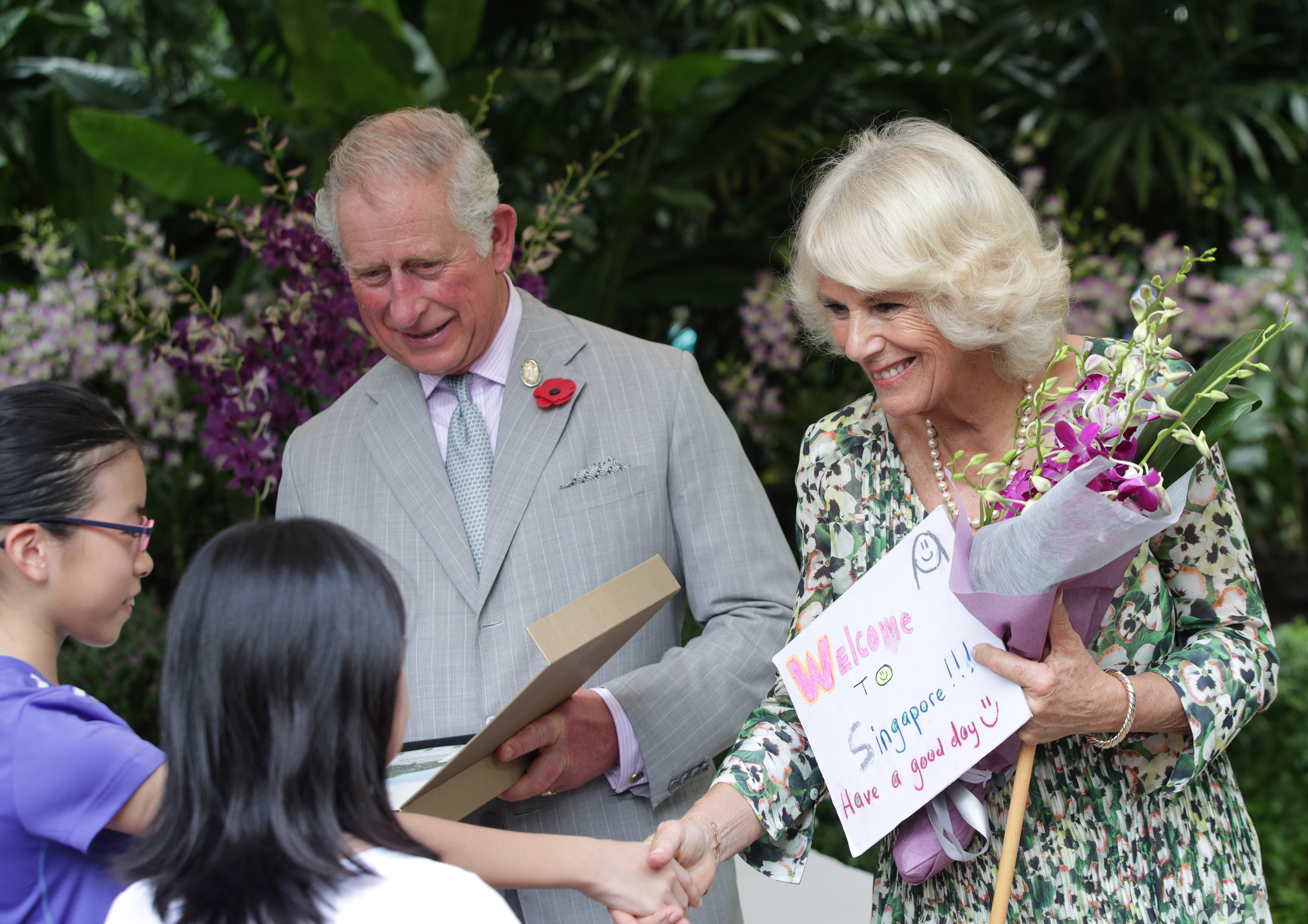 The Prince of Wales and The Duchess of Cornwall in Singapore