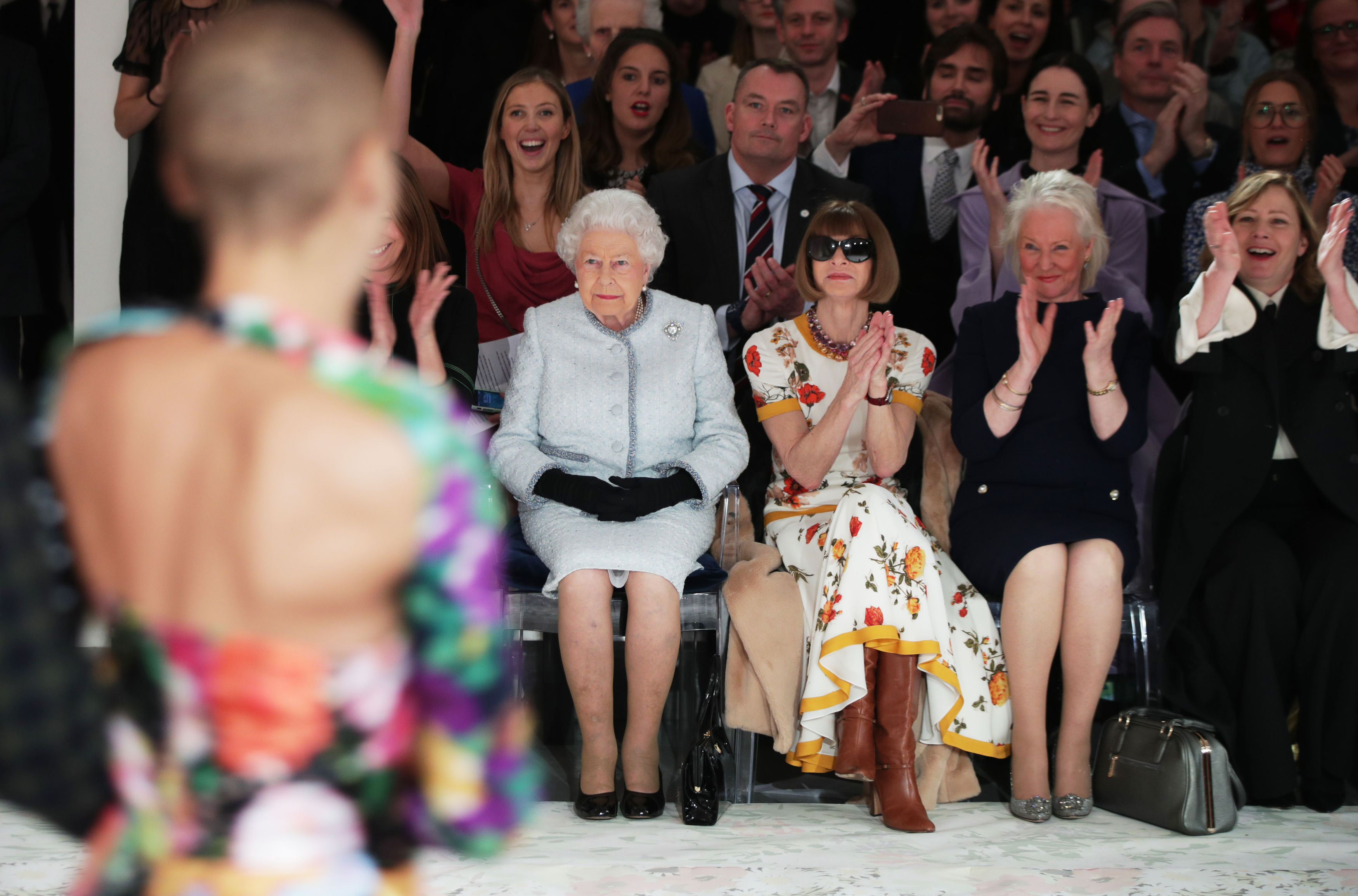 The Queen at London Fashion Week