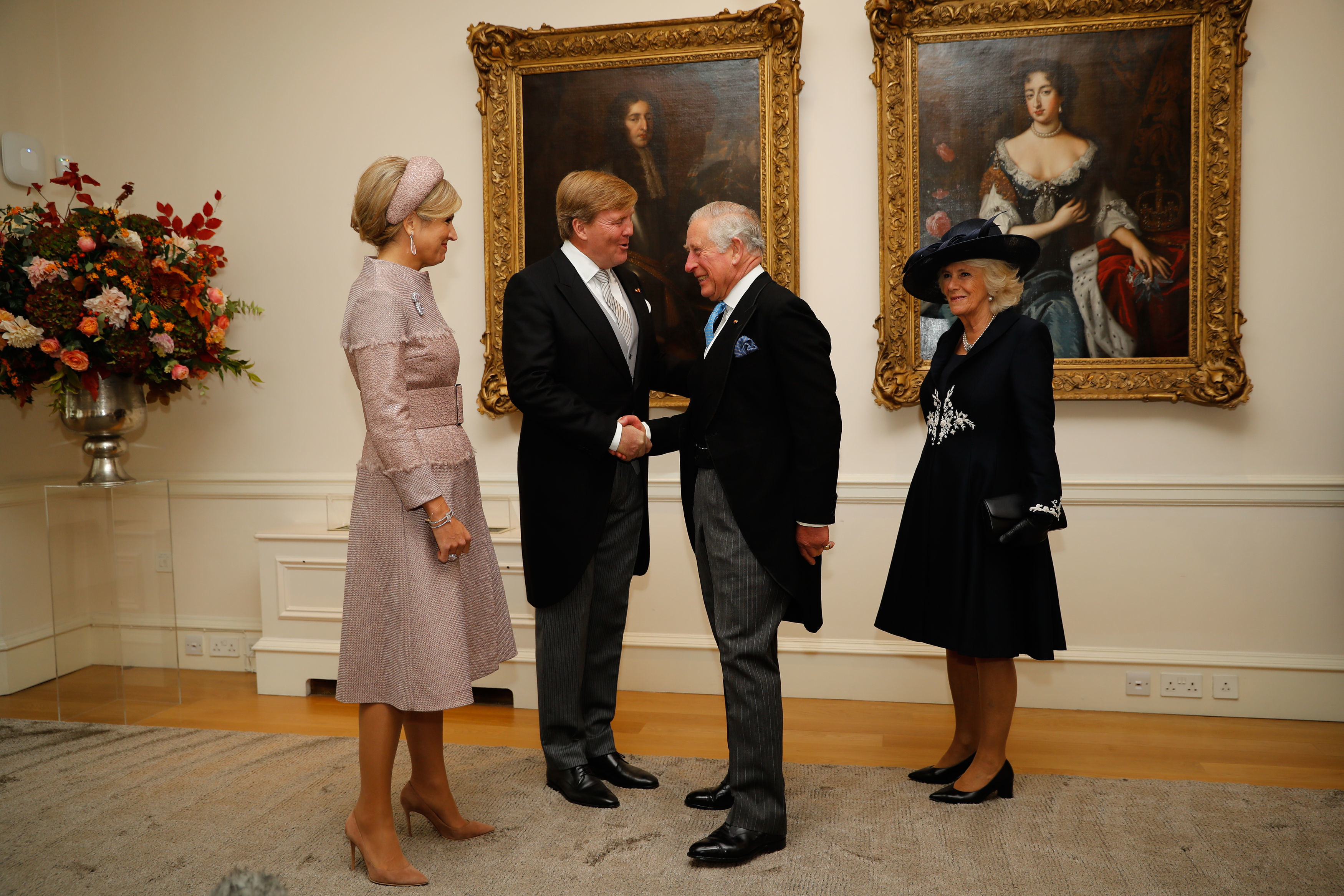 The Prince of Wales and The Duchess of Cornwall with Their Majesties of Netherland