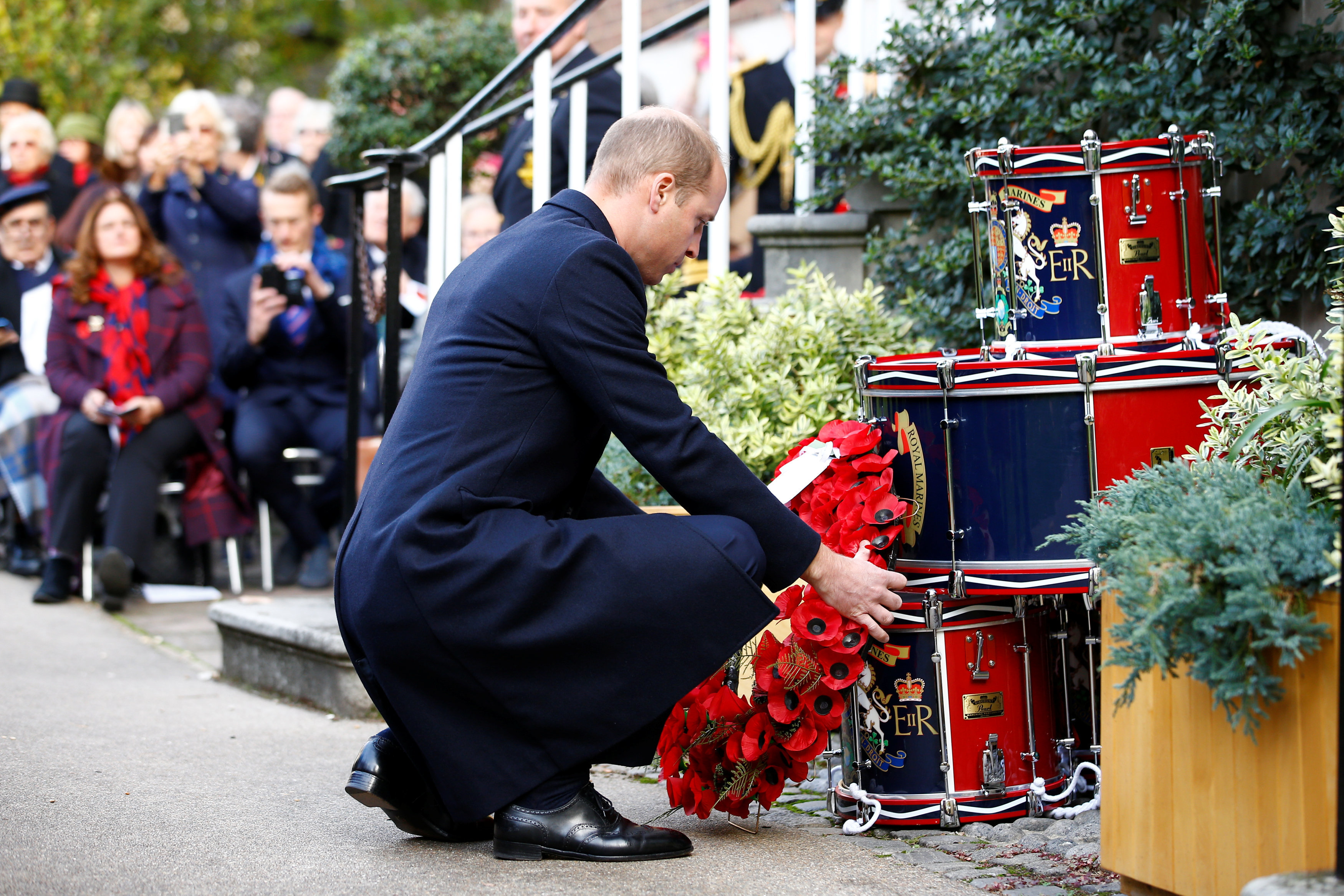The Duke of Cambridge at the Submariners' Service
