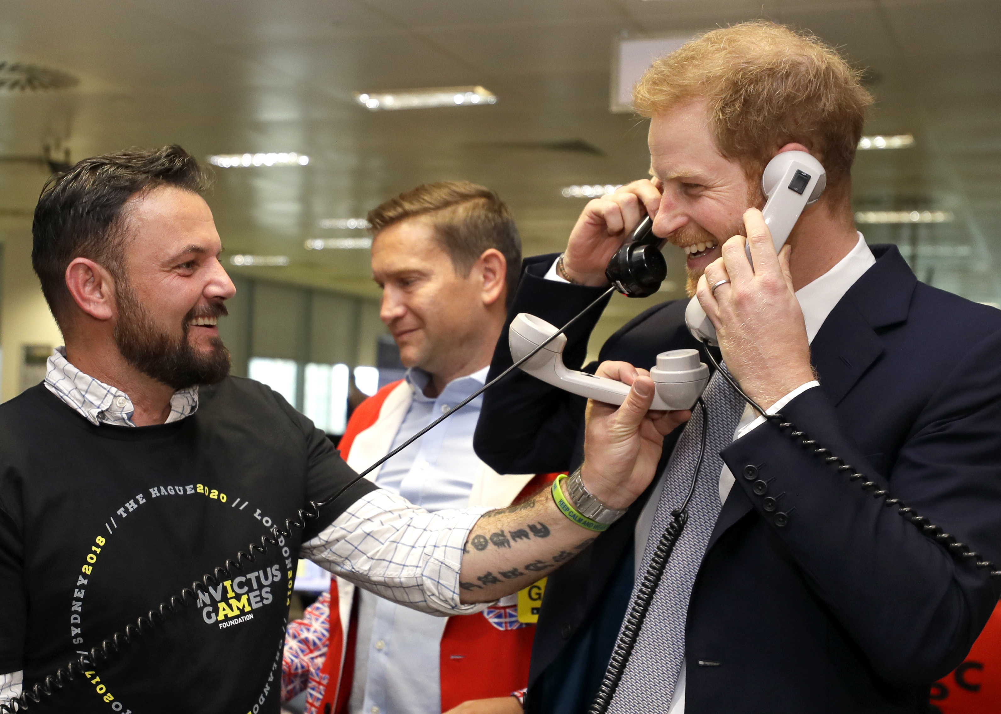 The Duke of Sussex helps to raise funds for Invictus Games at the annual BGC charity day