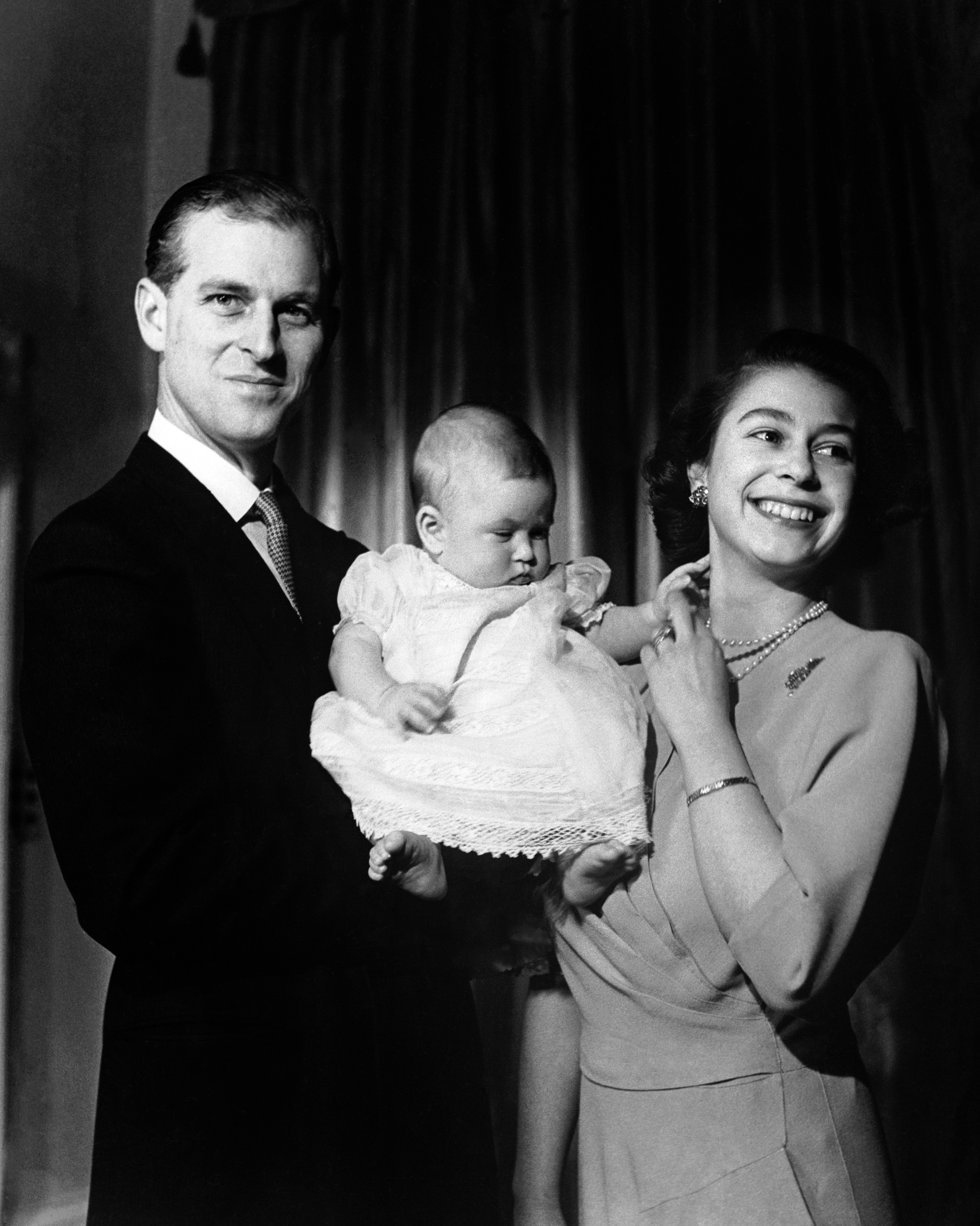 the queen, the duke of edinburgh, prince charles