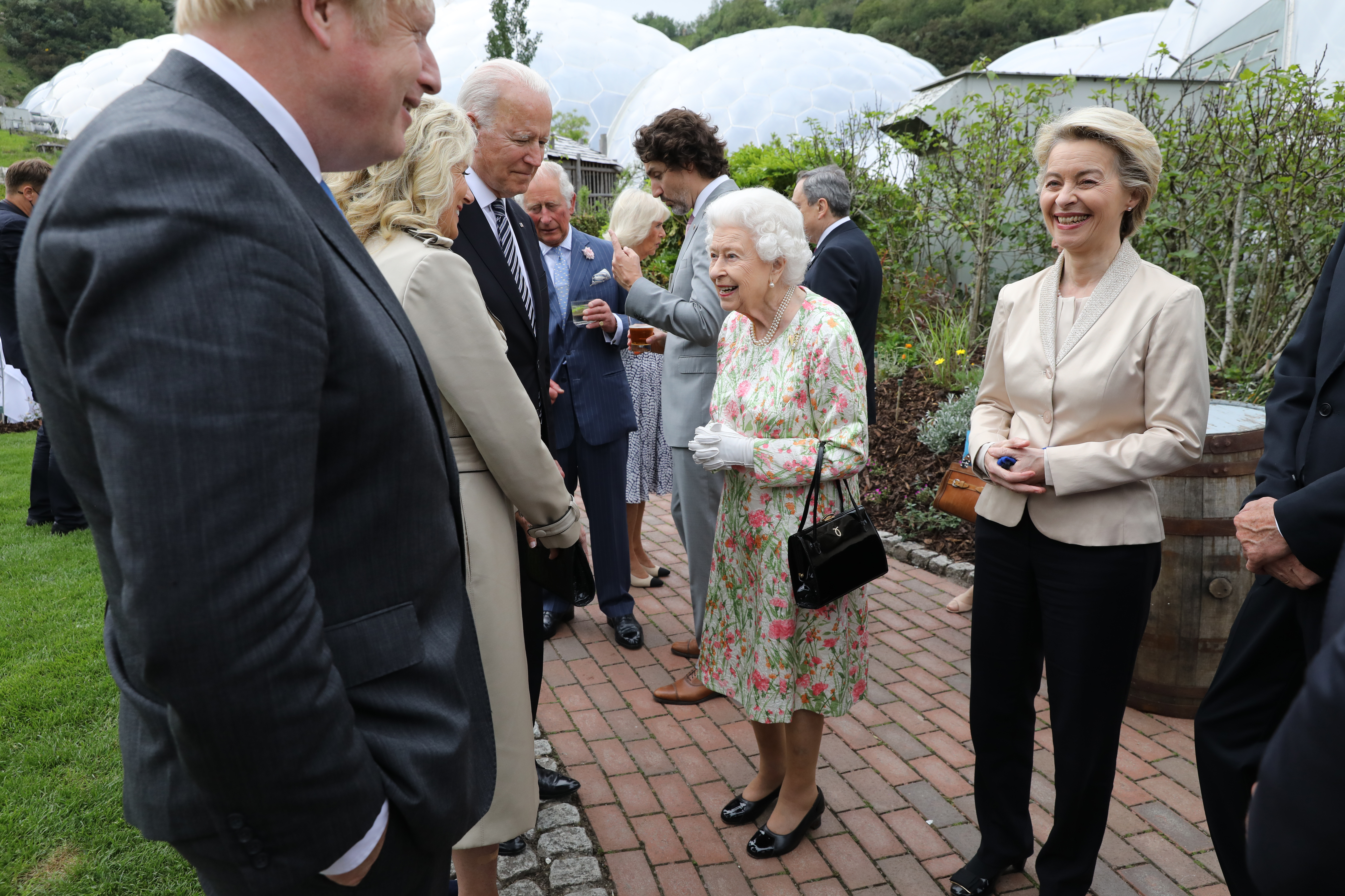 Her Majesty welcomes world leaders at The Eden Project