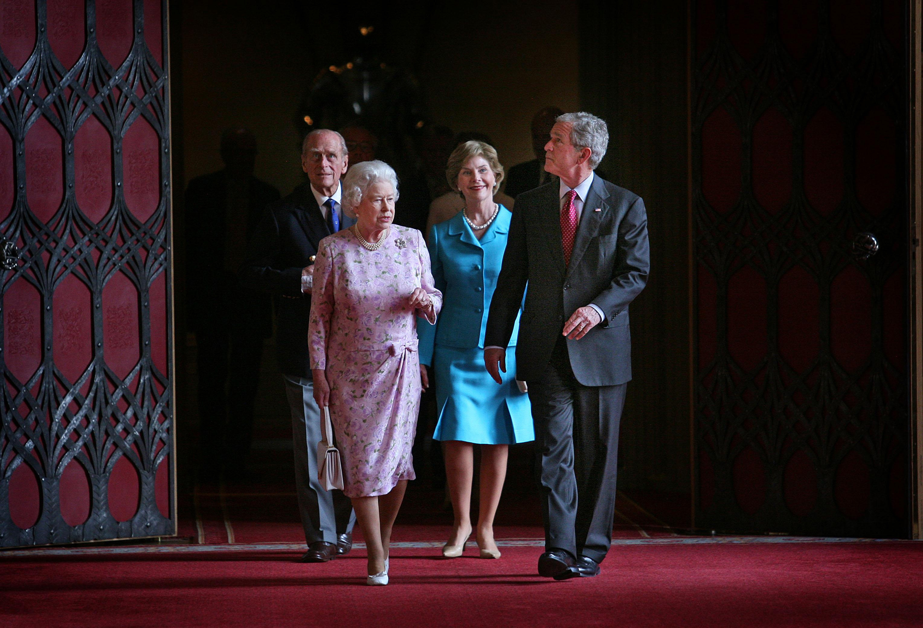 The Queen and President George W. Bush