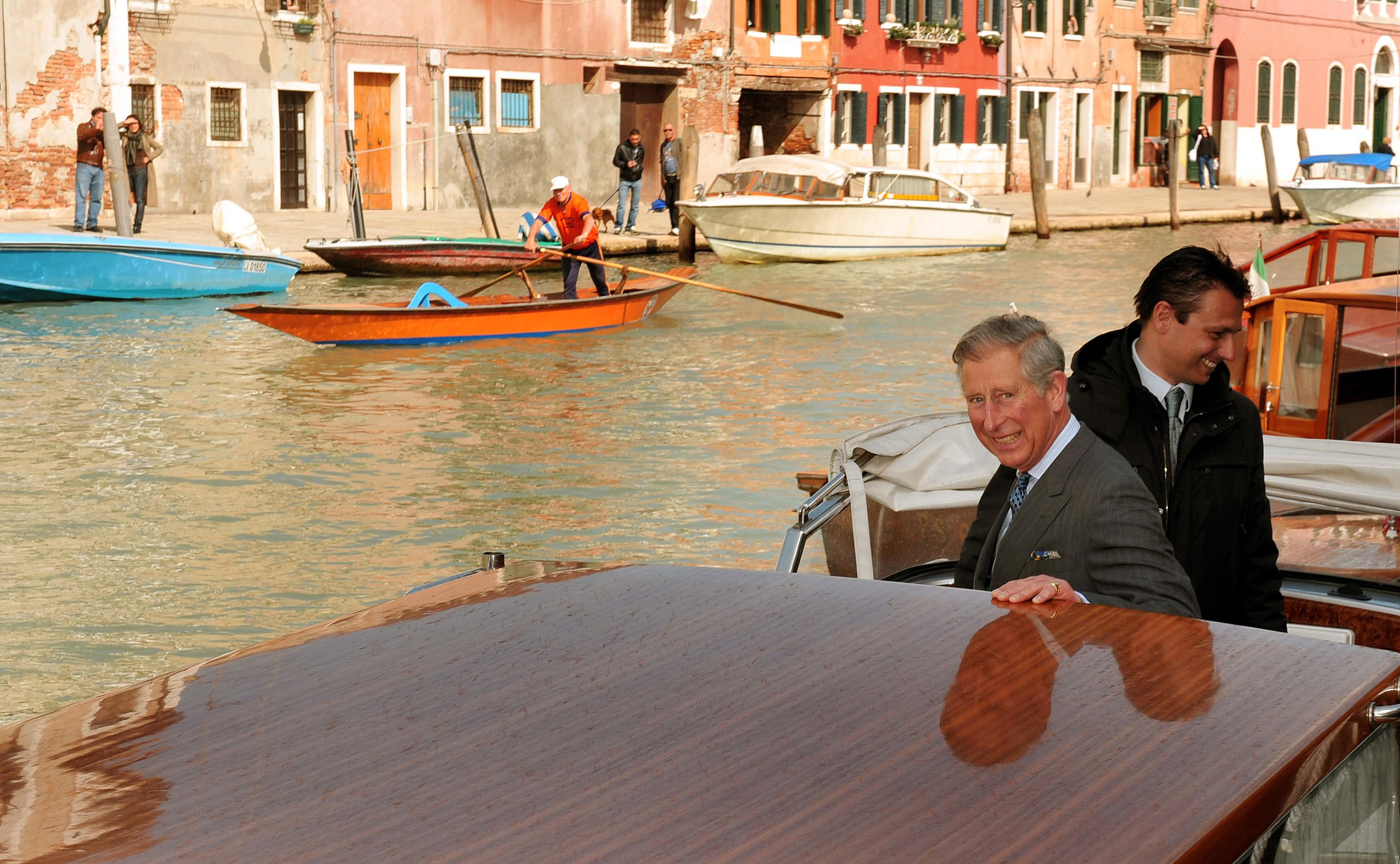 The Prince of Wales visits Venice in 2009