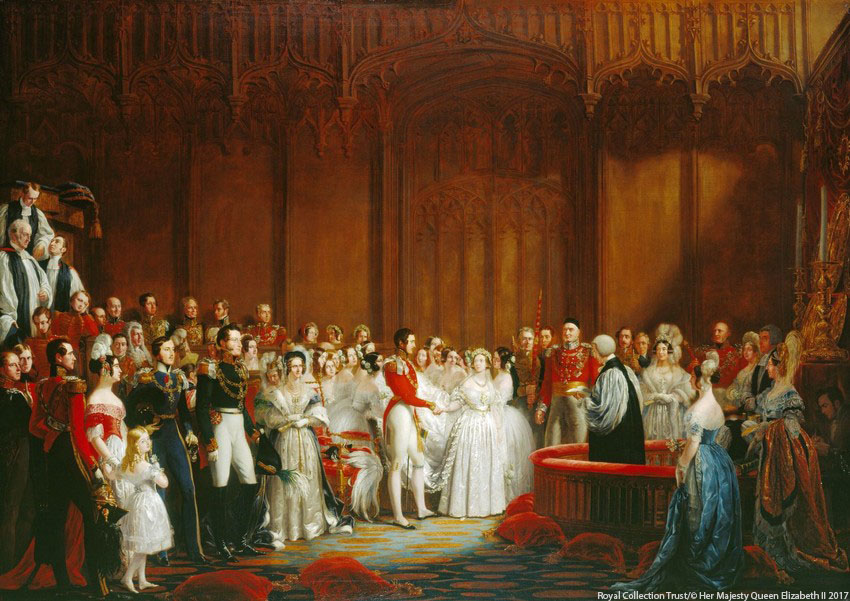 The wedding of Queen Victoria and Prince Albert