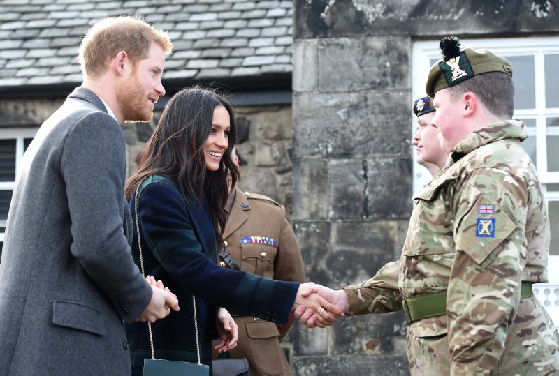Prince Harry and Ms. Meghan Markle in Edinburgh