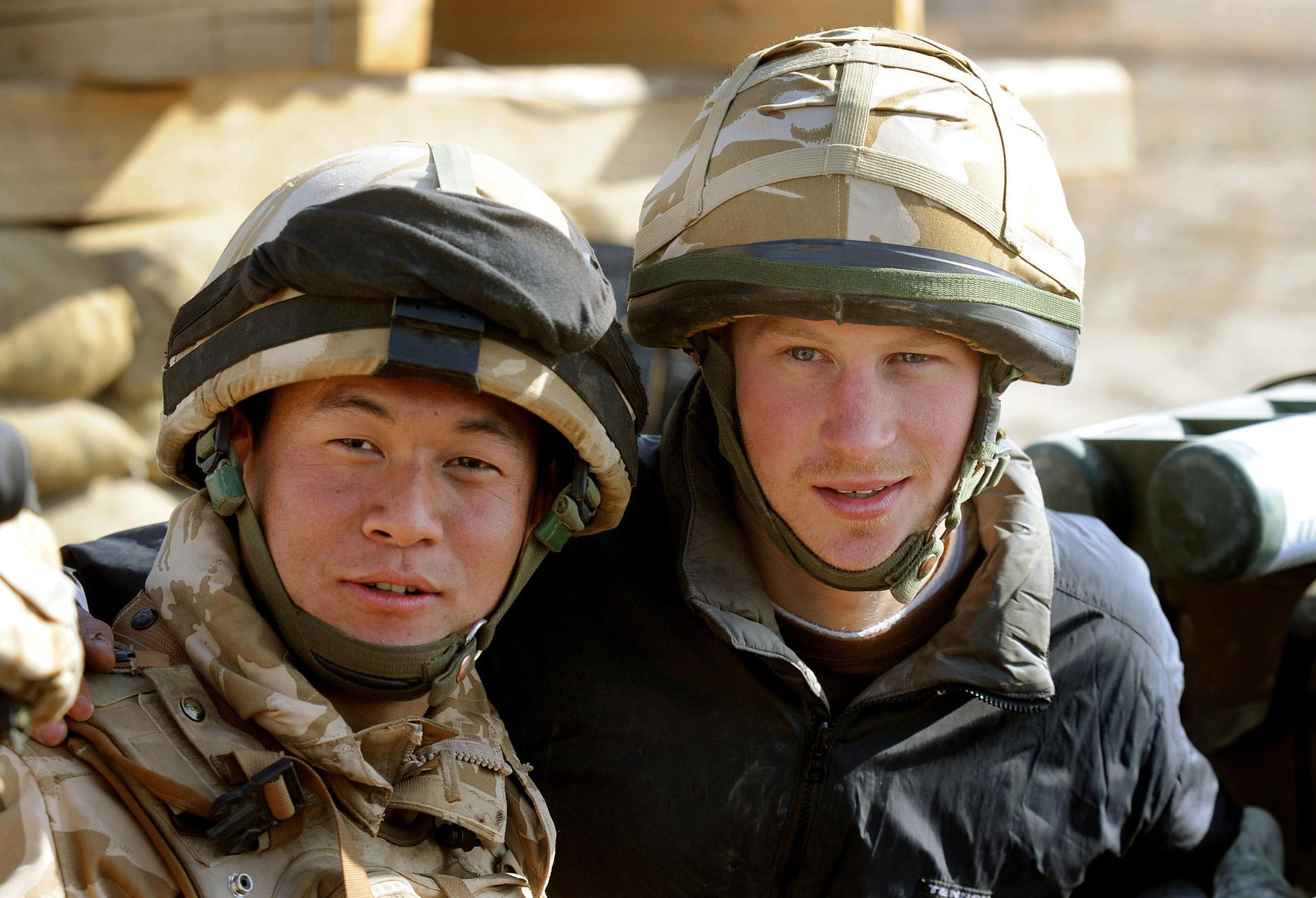 Prince Harry when serving with the the 1st Battalion The Royal Gurkha Rifles in Afghanistan in 2007