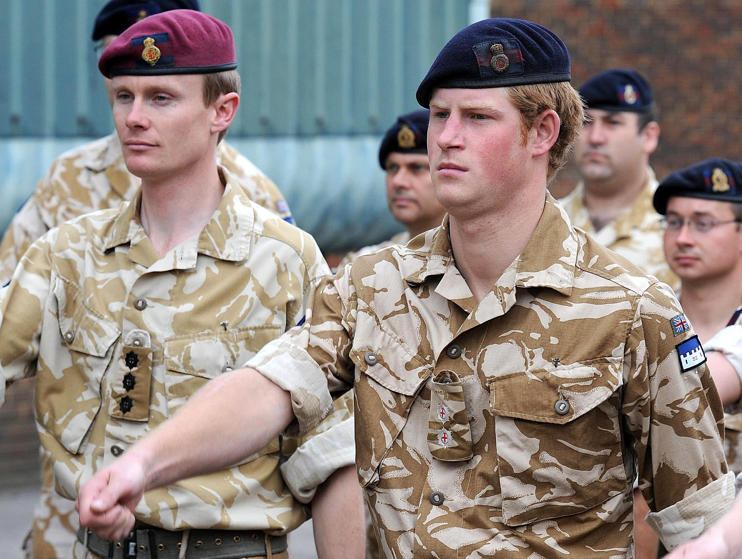 Prince Harry when serving with the Household Cavalry