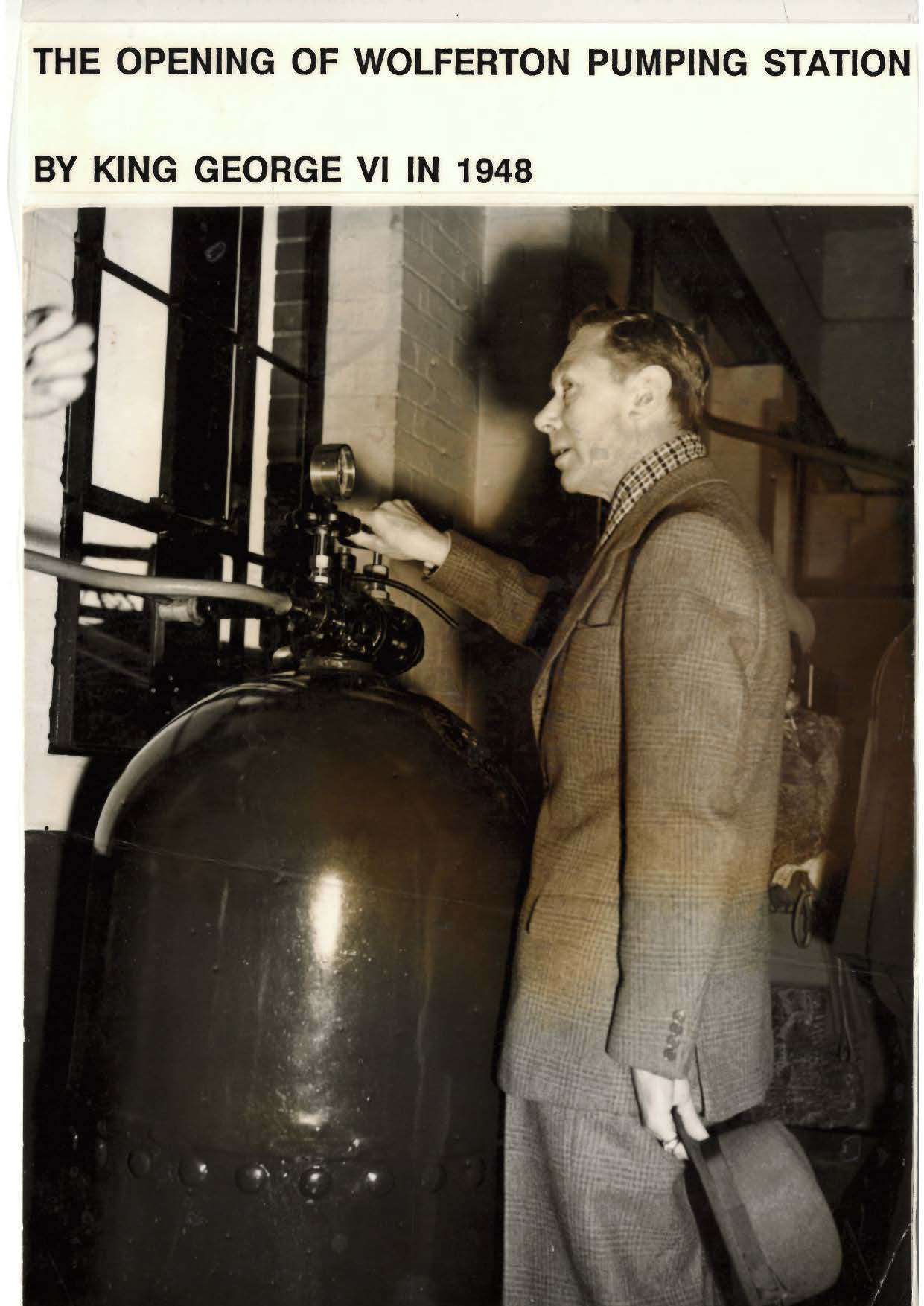 King George VI opens Wolferton Pumping Station, 1948